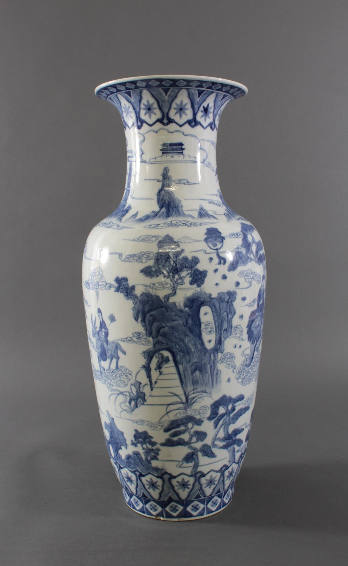 Große Chinesische Porzellan-Vase, Bodenvase, 20. Jh.-2