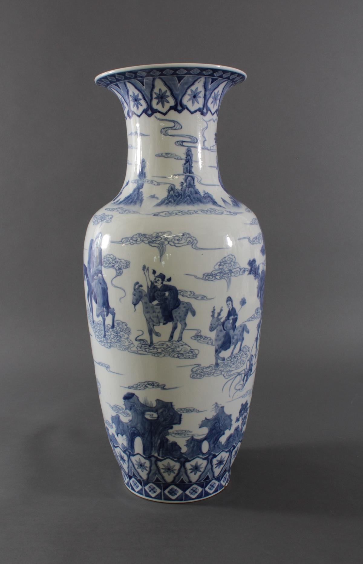 Große Chinesische Porzellan-Vase, Bodenvase, 20. Jh.-3