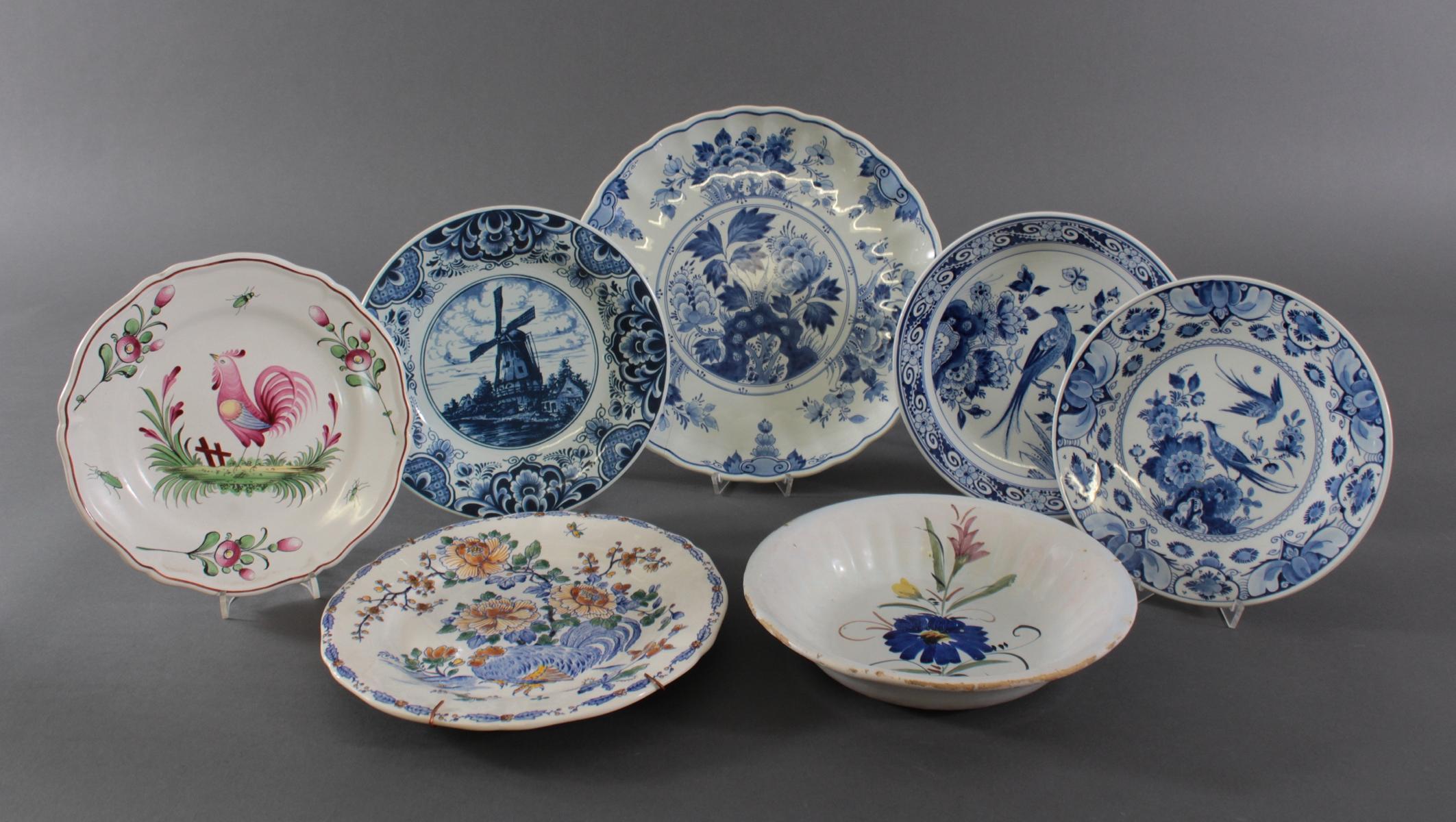 Keramikteller Konvolut, 19./20. Jahrhundert