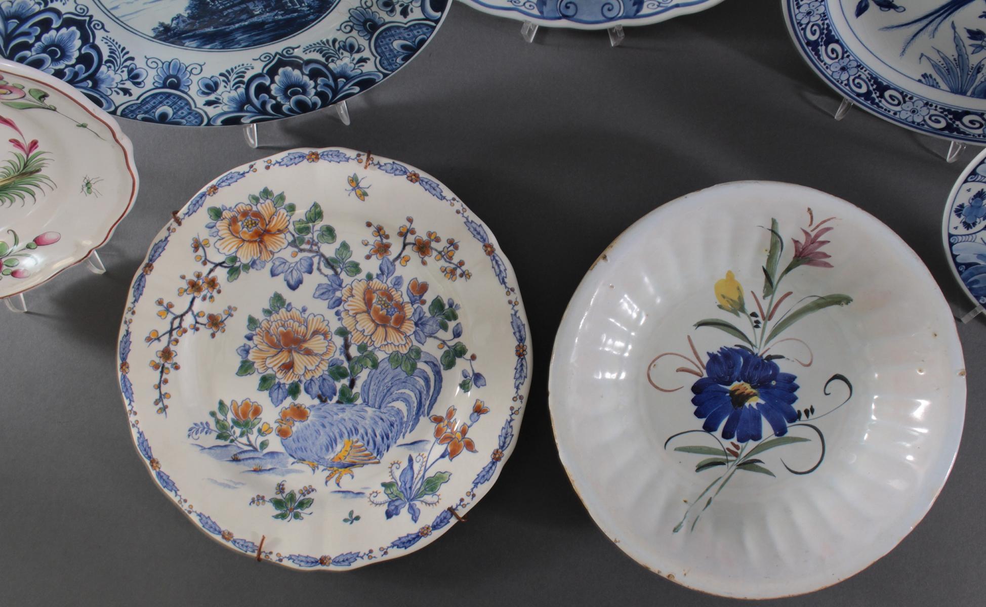 Keramikteller Konvolut, 19./20. Jahrhundert-4