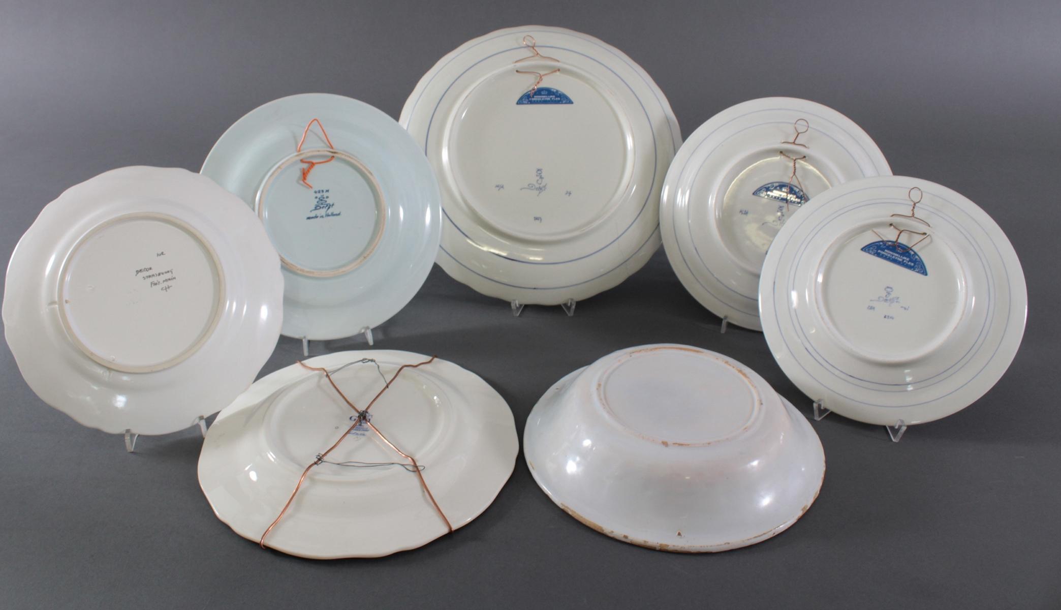 Keramikteller Konvolut, 19./20. Jahrhundert-5