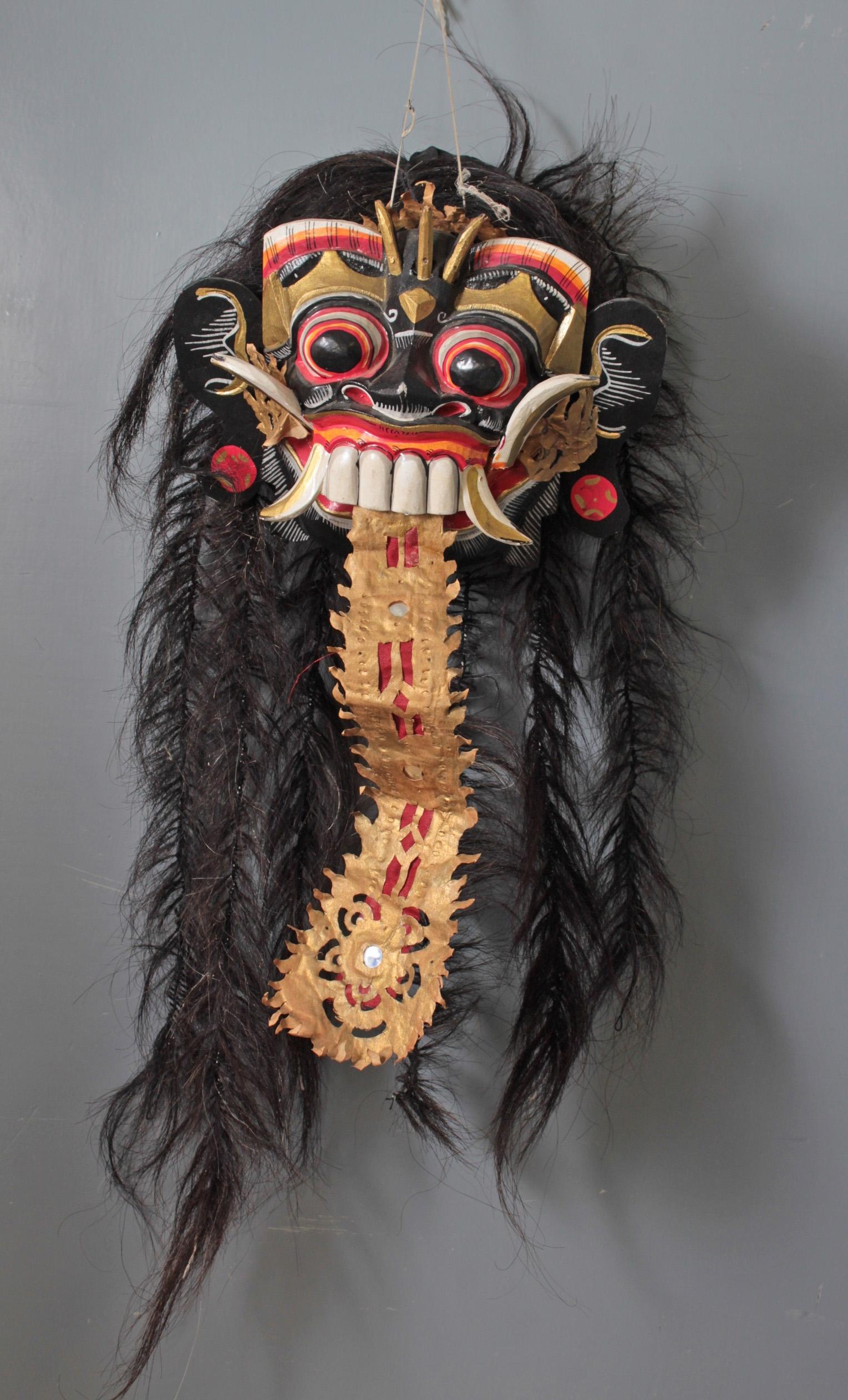 Tanzmaske eines Rangda, Bali