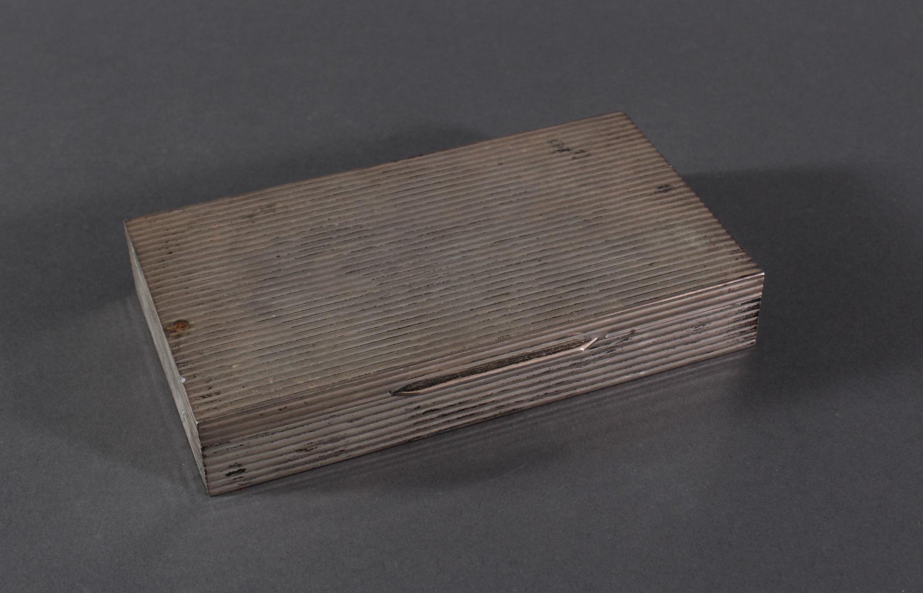 Silberne Deckelschatulle, 925er Silber