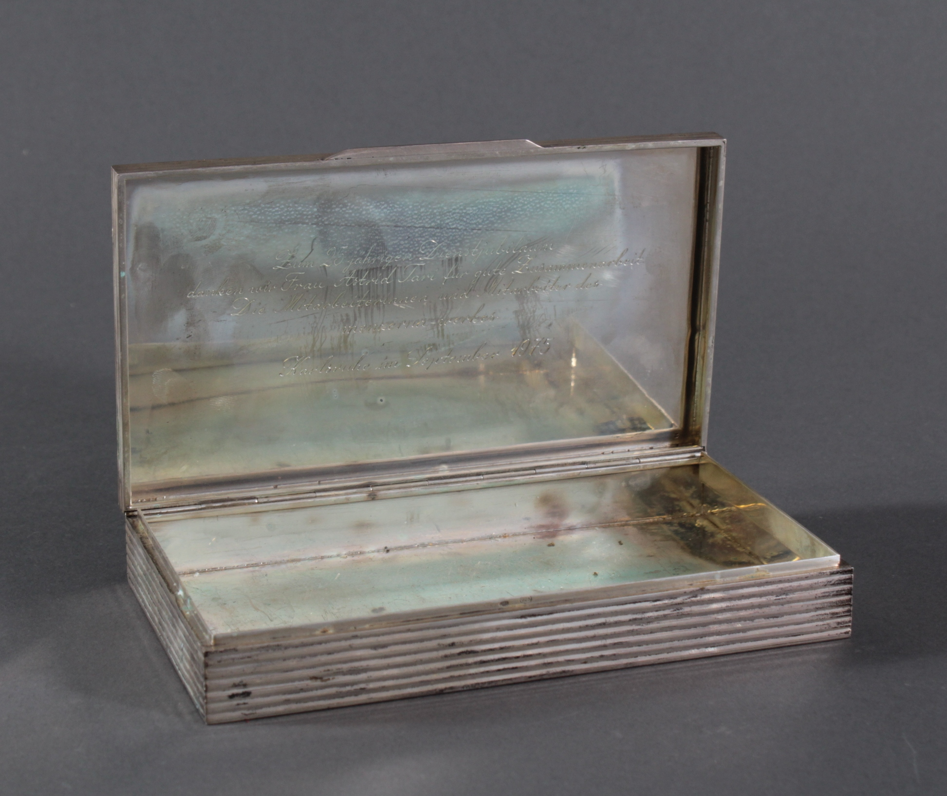 Silberne Deckelschatulle, 925er Silber-2