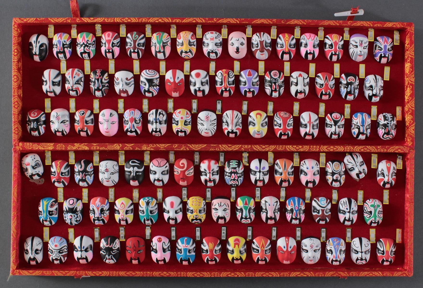 Traditionelle chinesische Miniaturmasken