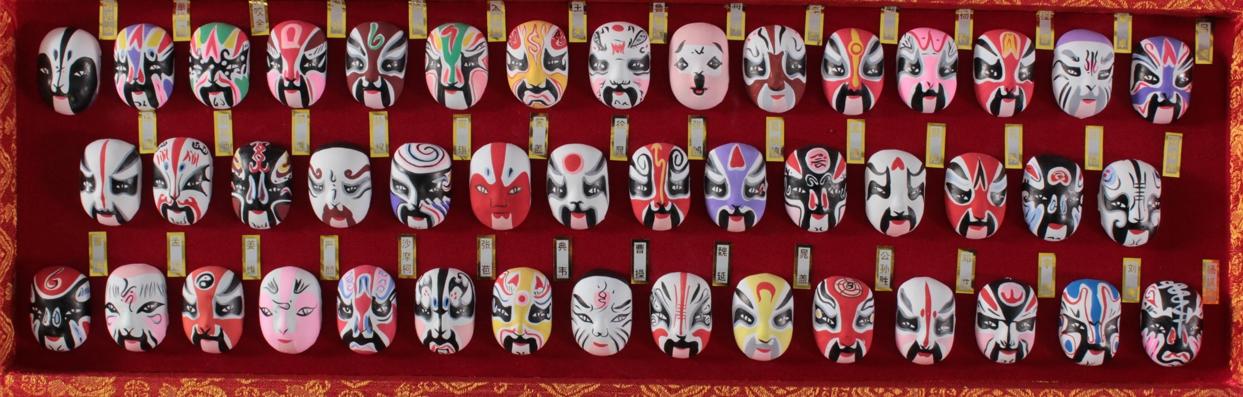 Traditionelle chinesische Miniaturmasken-2