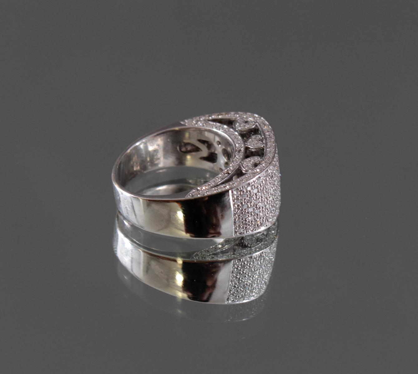 Damenring mit Diamanten 750/000 Weißgold-2