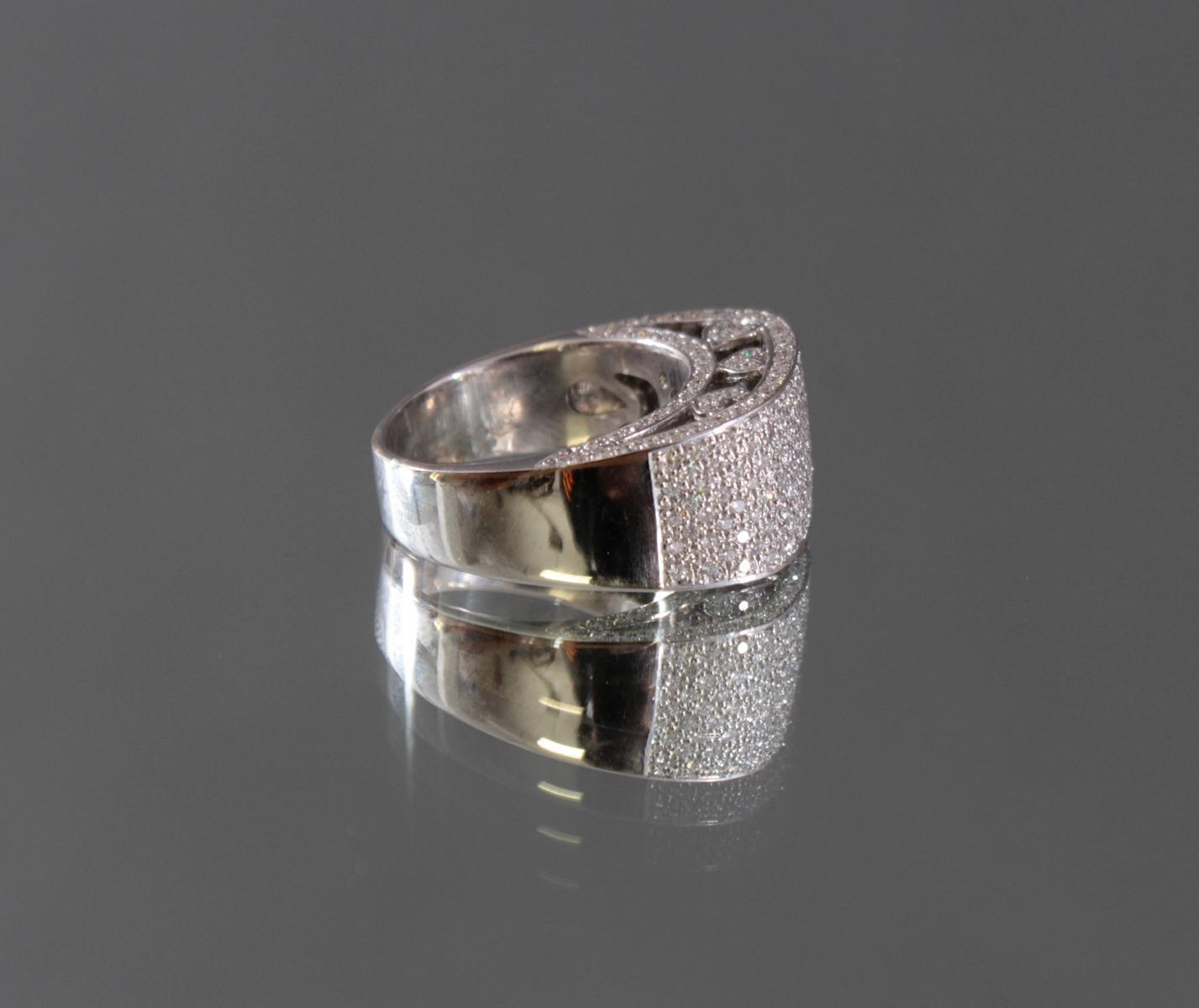 Damenring mit Diamanten 750/000 Weißgold-3