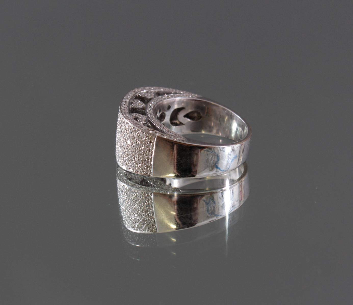 Damenring mit Diamanten 750/000 Weißgold-5
