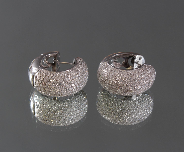 Ohrringe mit Diamanten 750/000 Weißgold-2