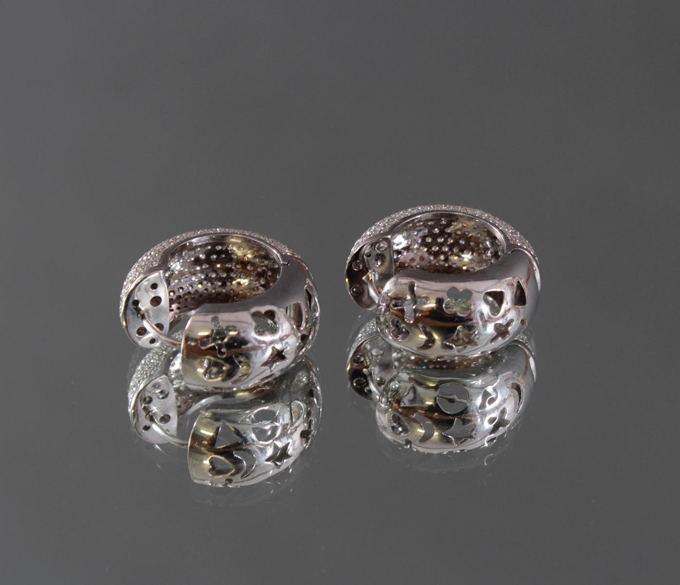 Ohrringe mit Diamanten 750/000 Weißgold-3