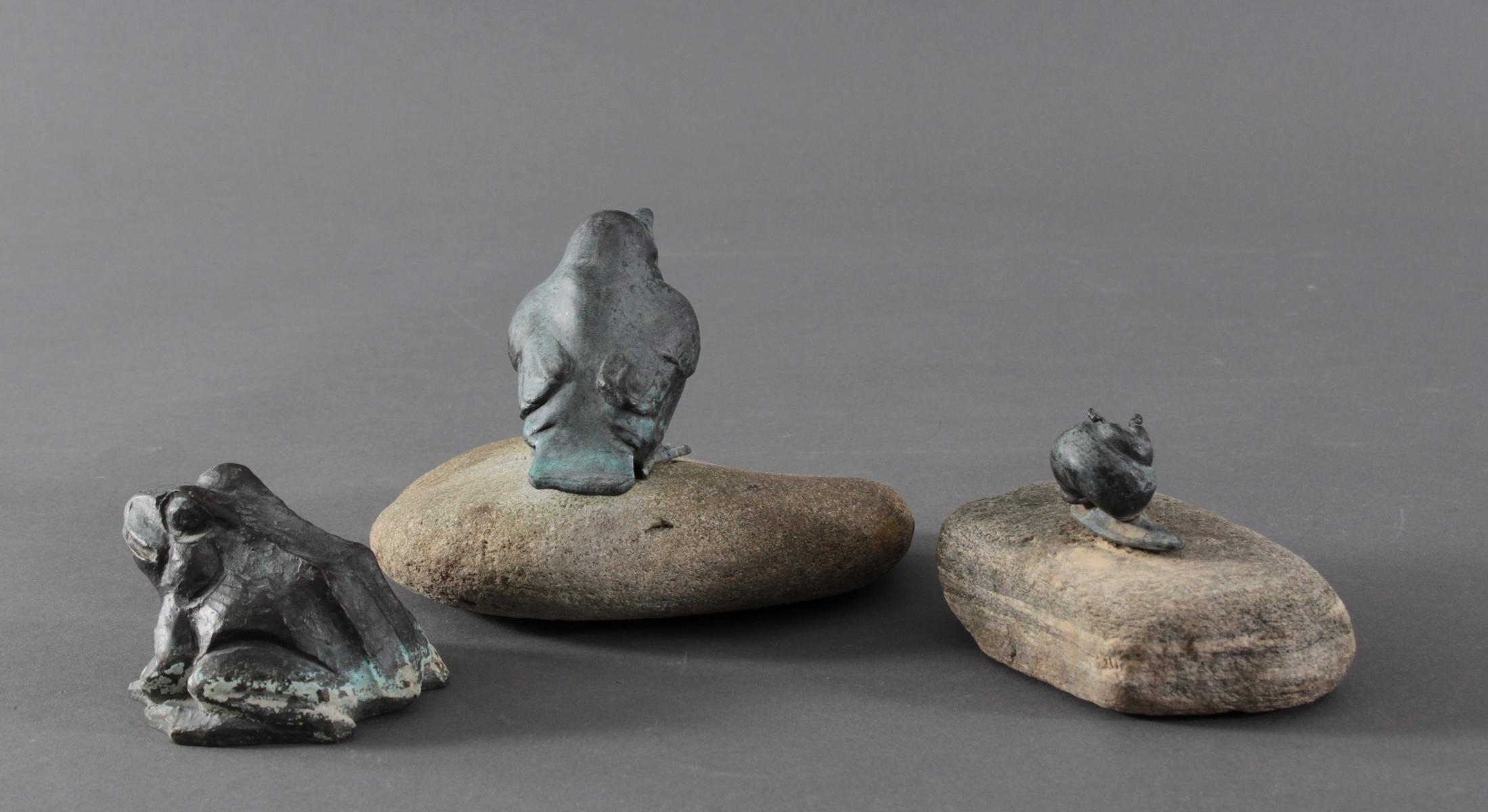 Philipp Basche, 3 Tierplastiken aus Kupfer und Bronze-5