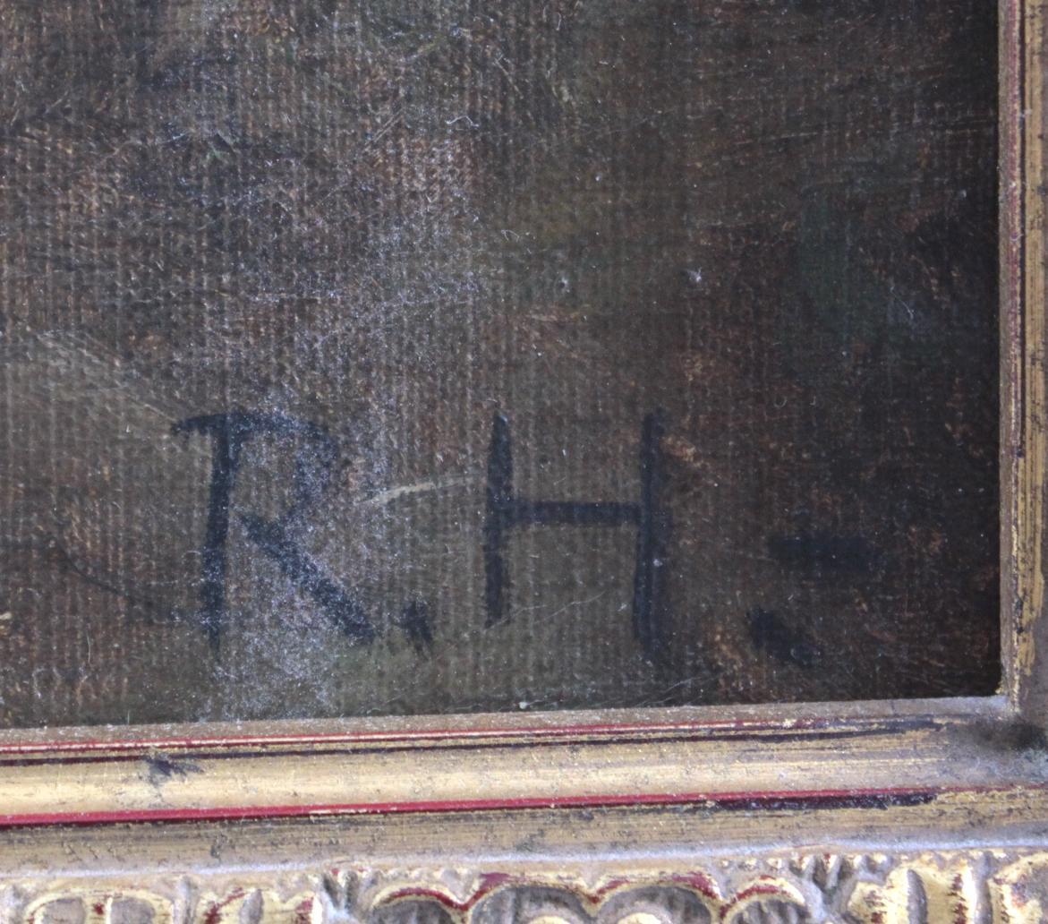 Marienbildnis mit Jesuskind, die Heiligen drei Könige, Monogrammist: R.H. 20. Jh.-3