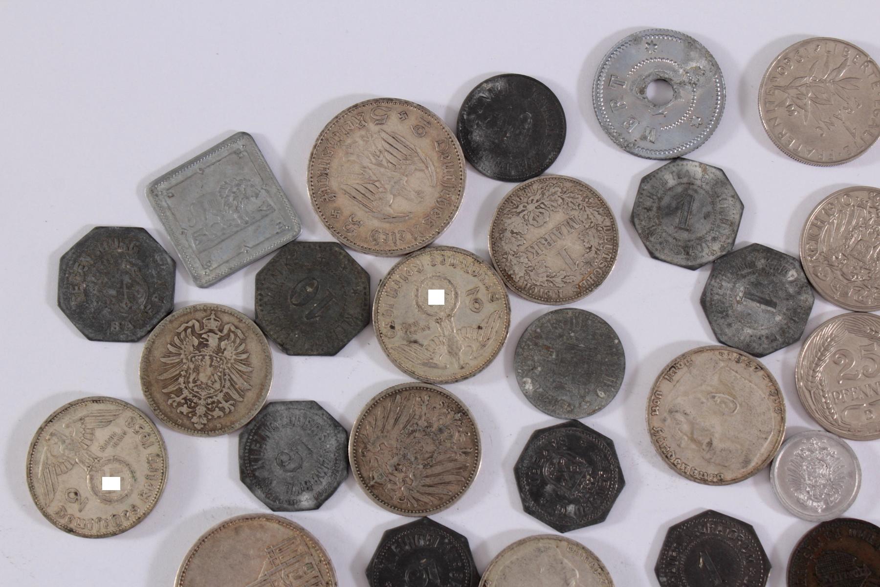 Konvolut Münzen Deutsches Reich, Kleingeld-Ersatzmark und alle Welt-2