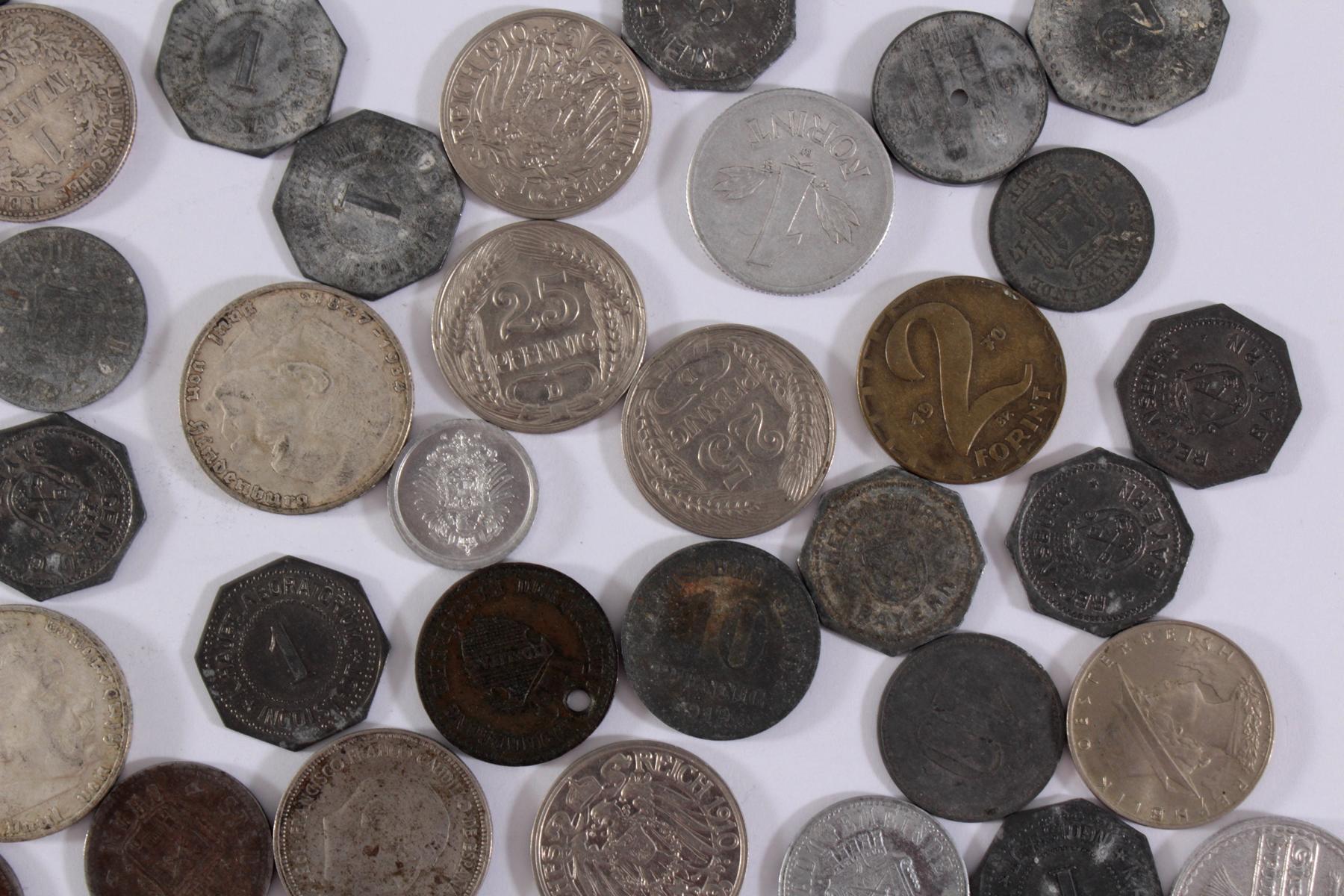 Konvolut Münzen Deutsches Reich, Kleingeld-Ersatzmark und alle Welt-3