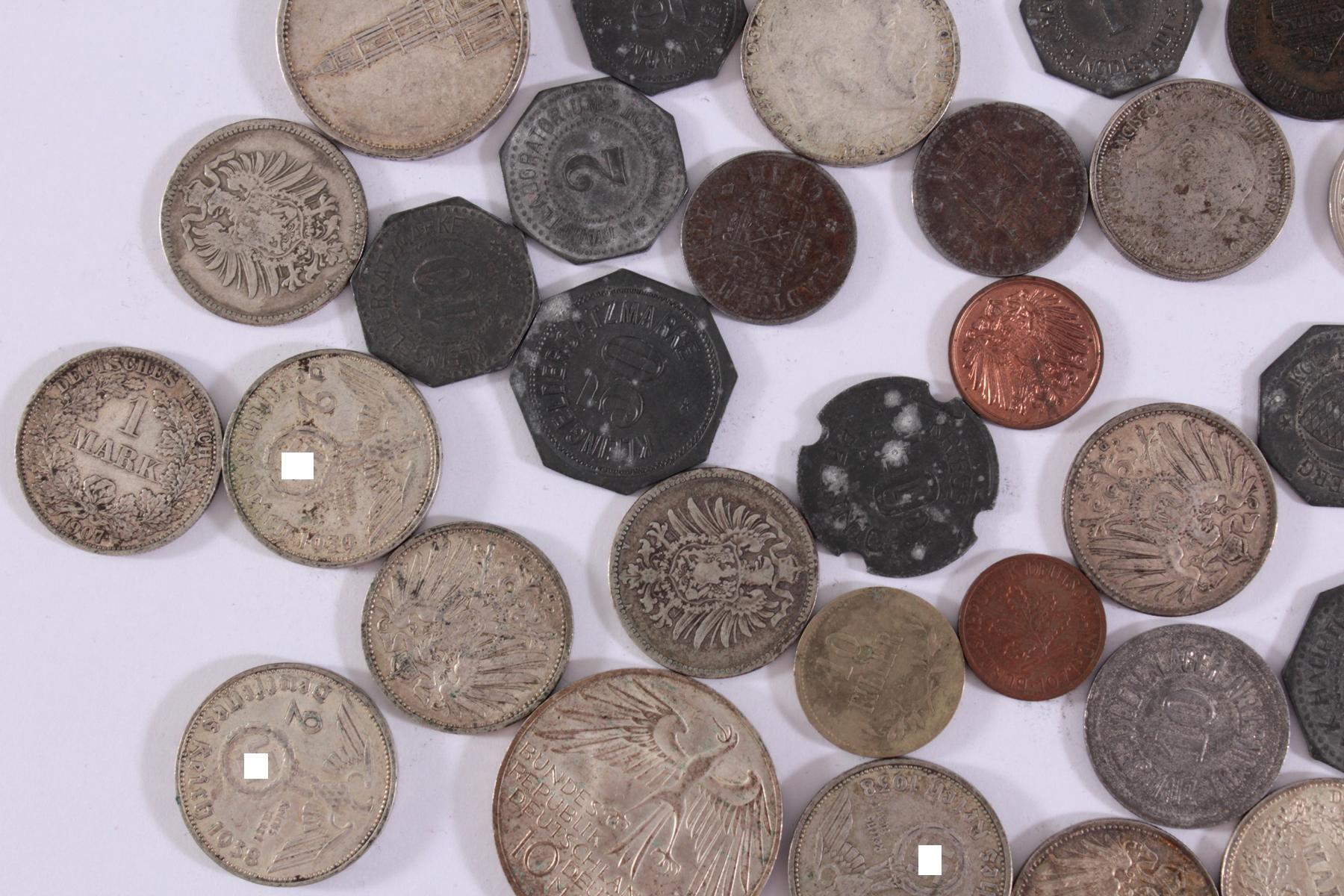 Konvolut Münzen Deutsches Reich, Kleingeld-Ersatzmark und alle Welt-4