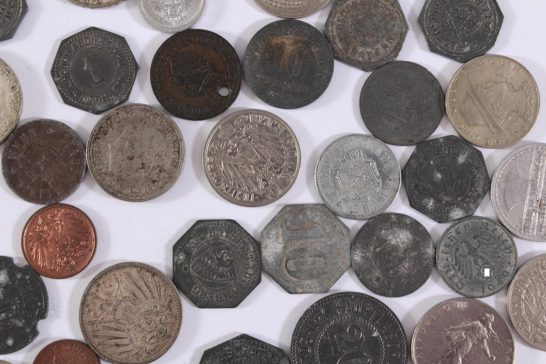 Konvolut Münzen Deutsches Reich, Kleingeld-Ersatzmark und alle Welt-5