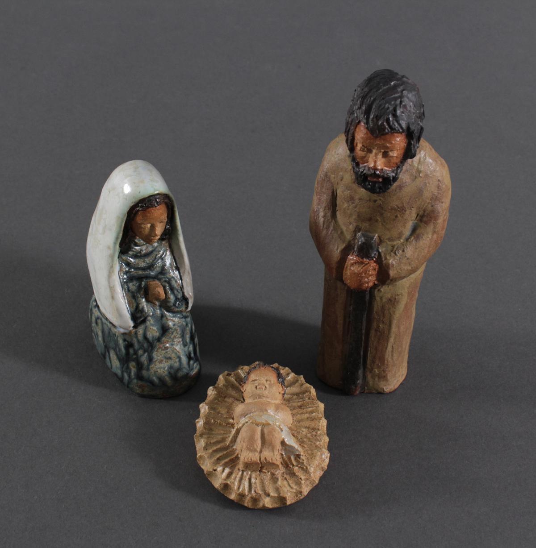 Maria und Josef mit dem Jesuskind, 1 Hälfte 20. Jh.-2