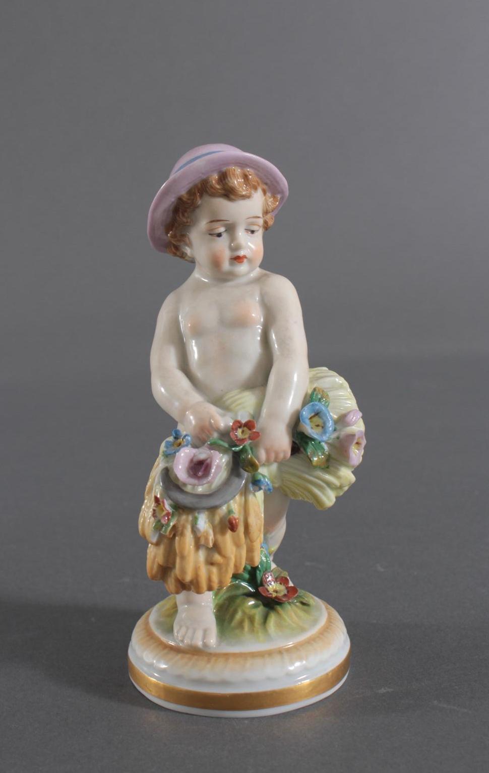 Porzellan-Skulptur Müller und Co., Volkstedt, 'Allegorie des Herbstes