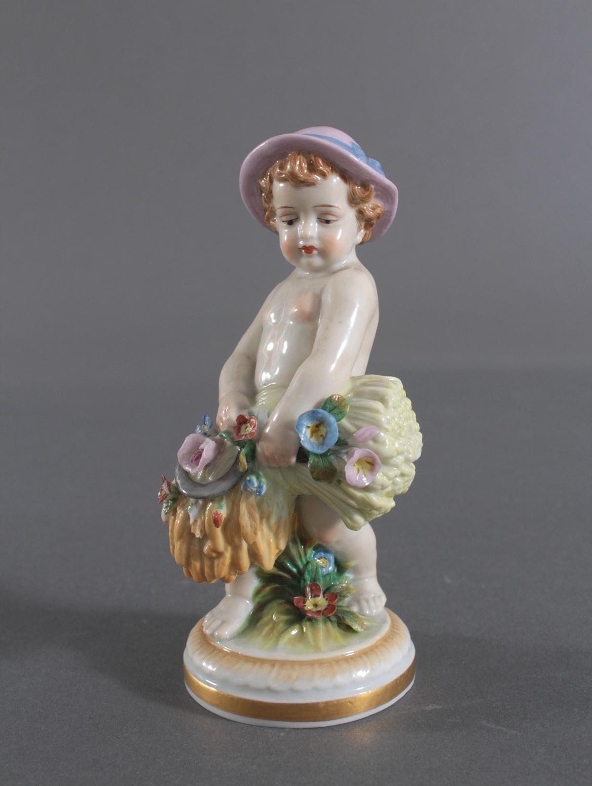 Porzellan-Skulptur Müller und Co., Volkstedt, 'Allegorie des Herbstes-2