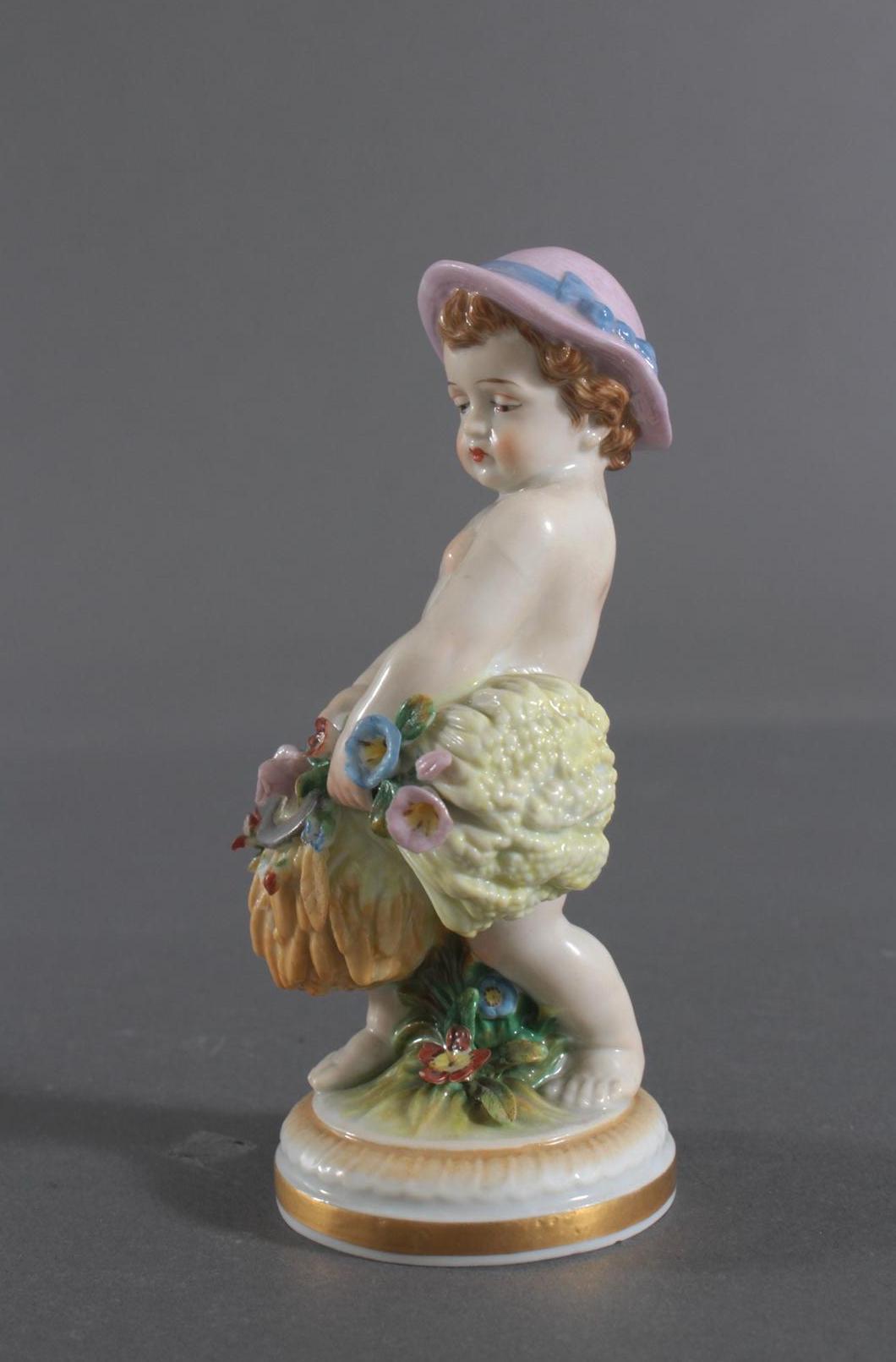 Porzellan-Skulptur Müller und Co., Volkstedt, 'Allegorie des Herbstes-5