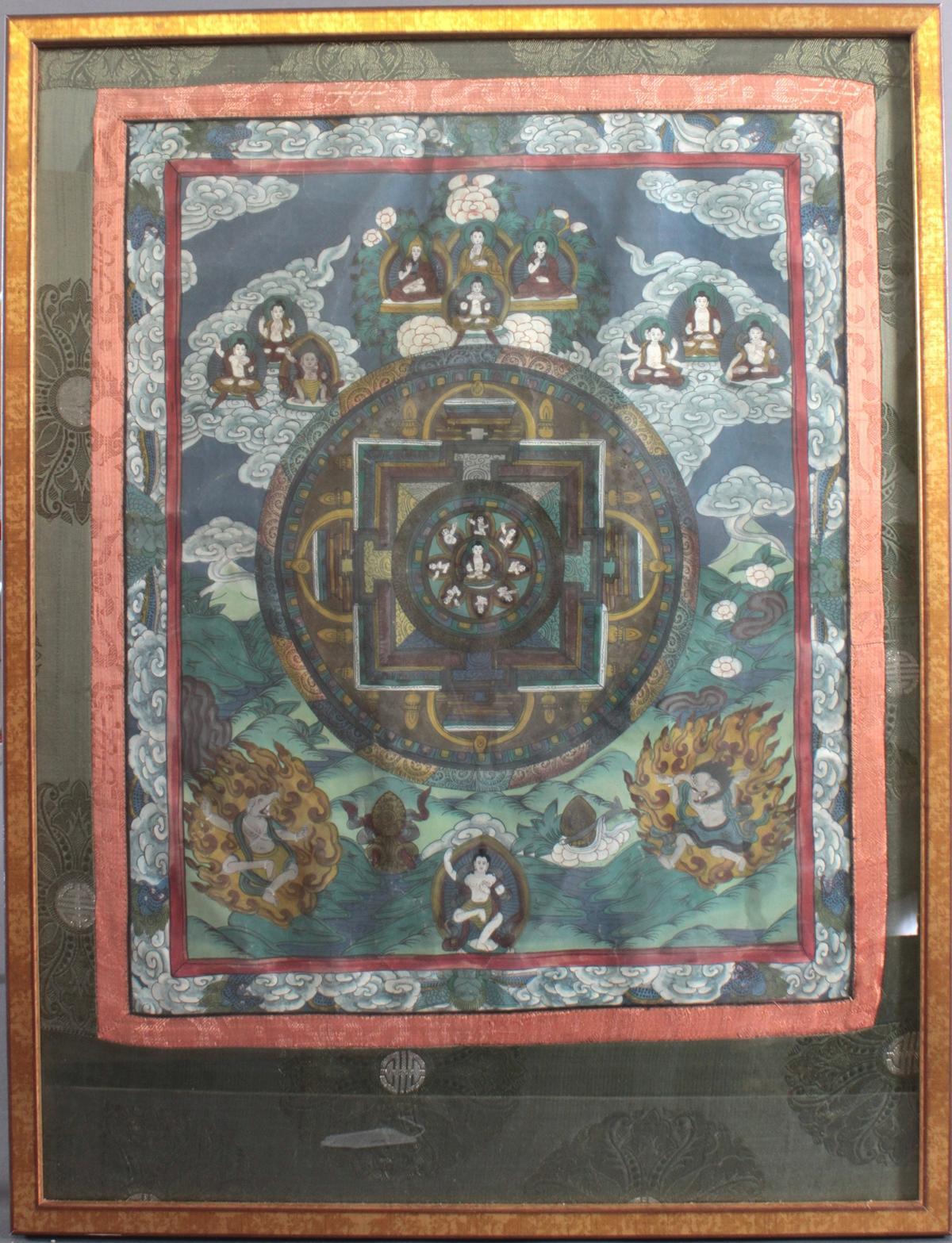 Thanka, Tibet um 1900