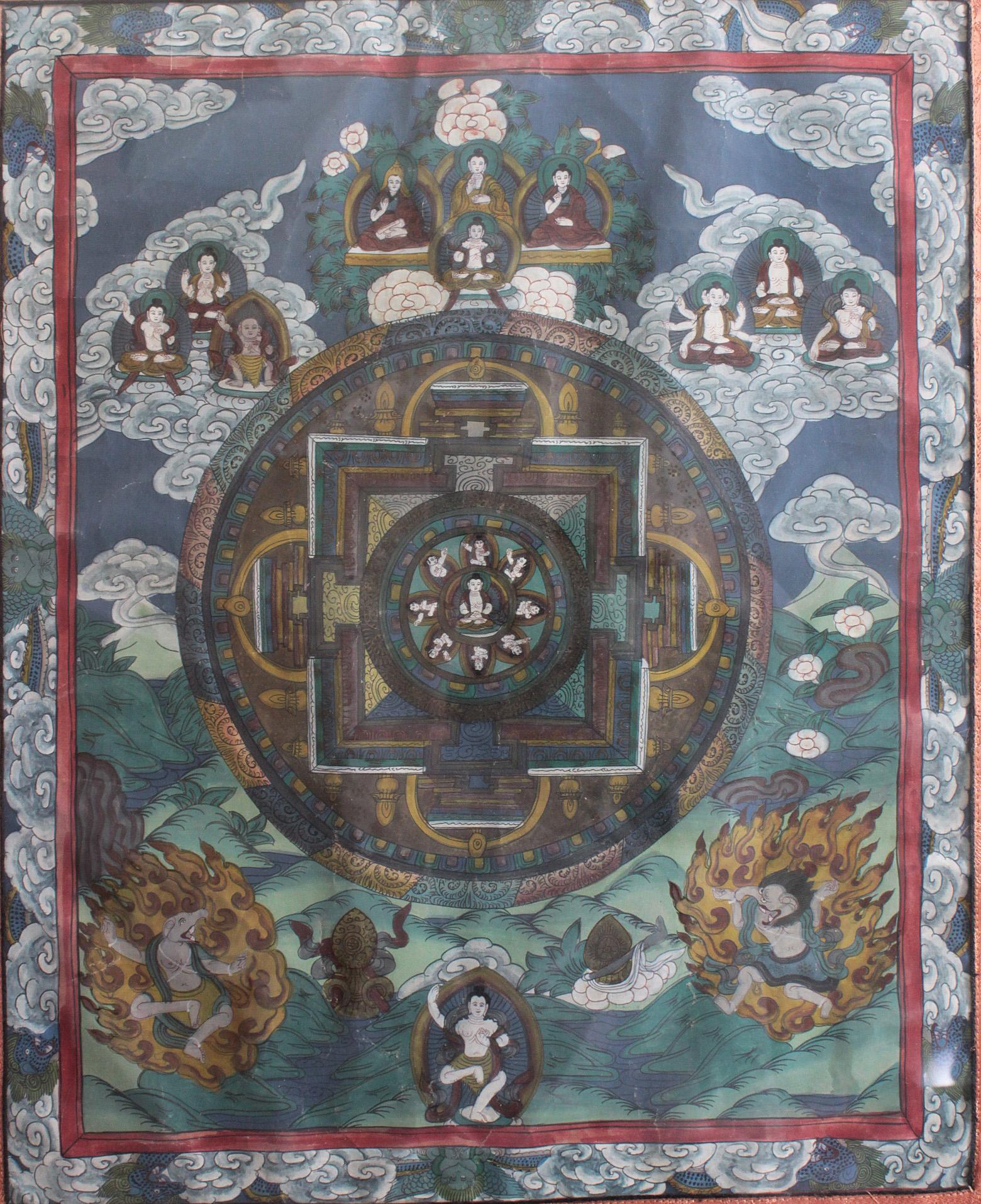 Thanka, Tibet um 1900-2