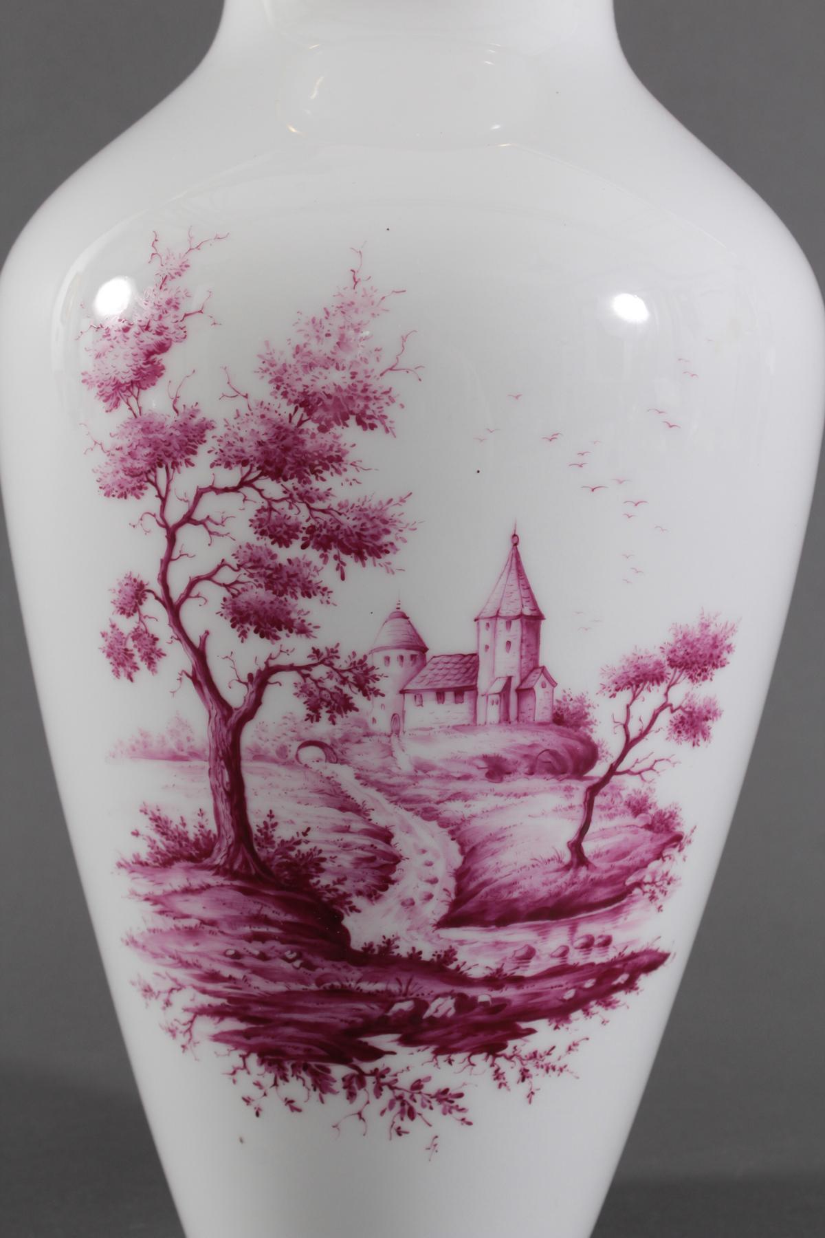 Große Vase, Höchster Porzellanmanufaktur, Malersignatur Kurt Schröder-2