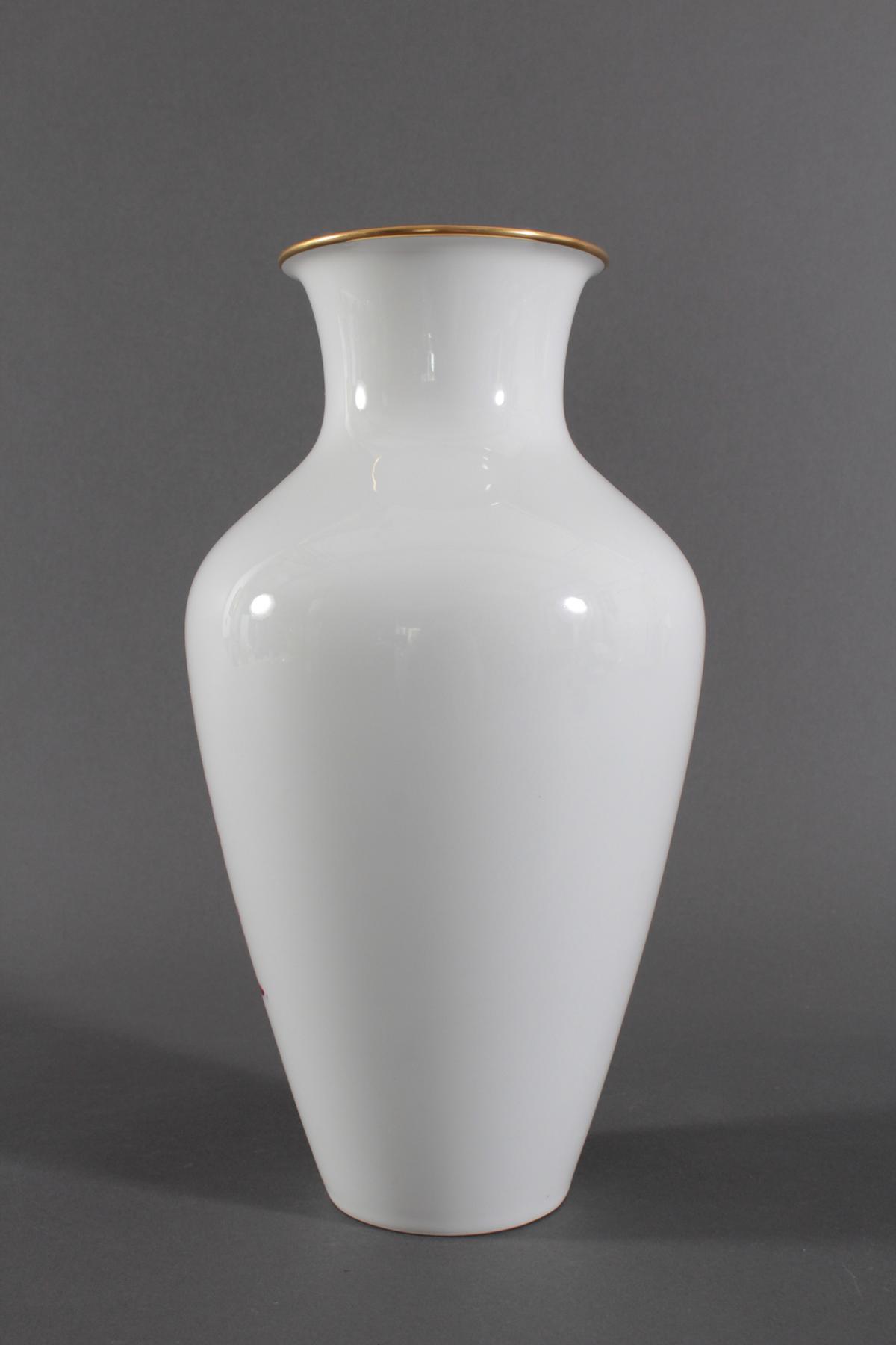 Große Vase, Höchster Porzellanmanufaktur, Malersignatur Kurt Schröder-3