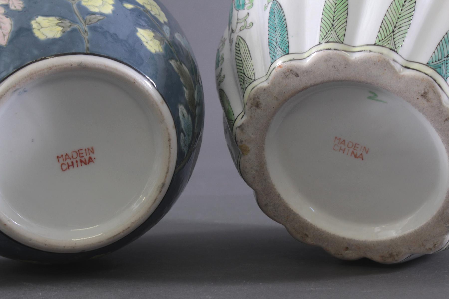 Zwei Deckelvasen China-4