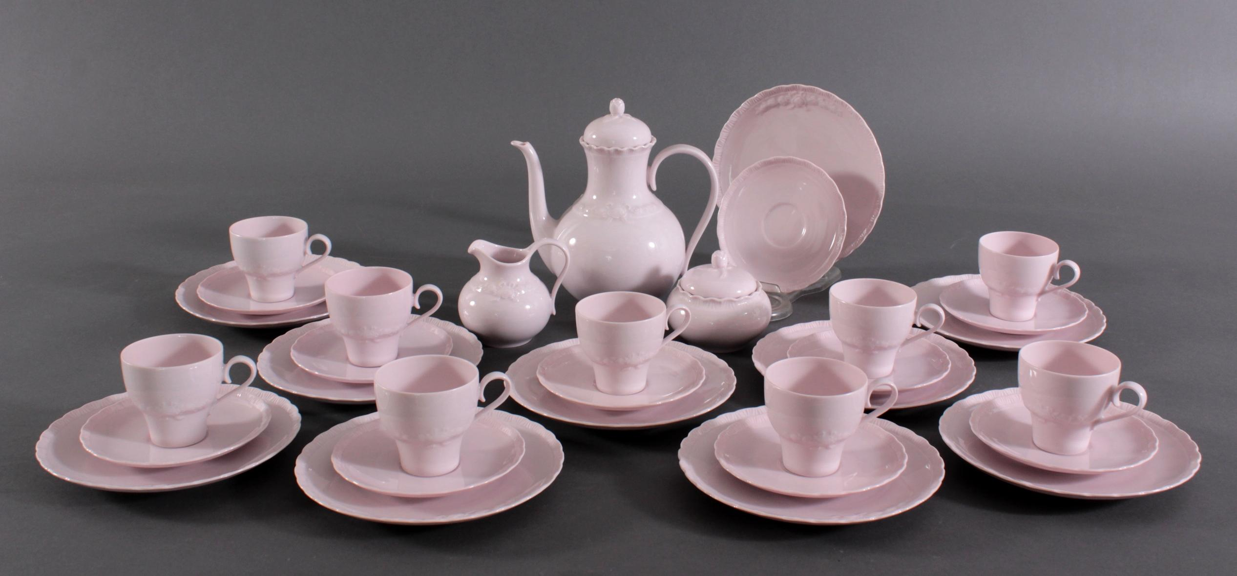 Hutschenreuther Kaffeeservice 'Porcelaine Rosé'
