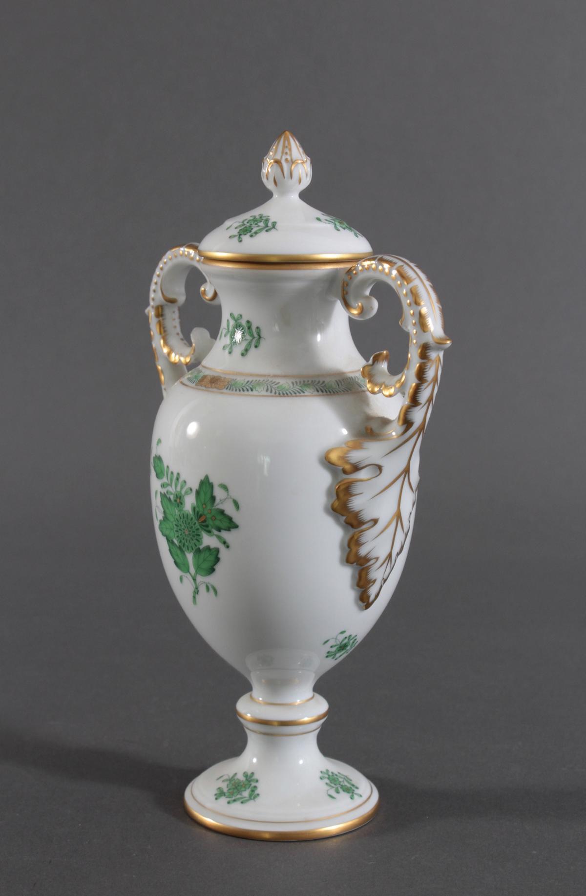 Amphorenvase Herend im Dekor Appony grün-2