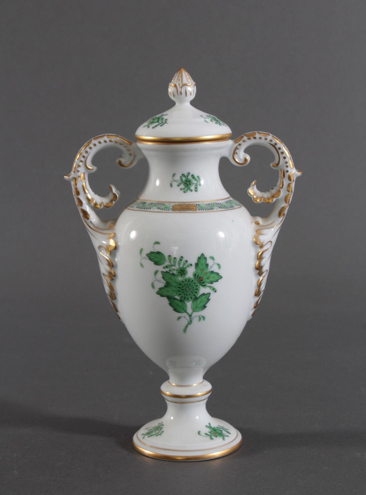 Amphorenvase Herend im Dekor Appony grün-3