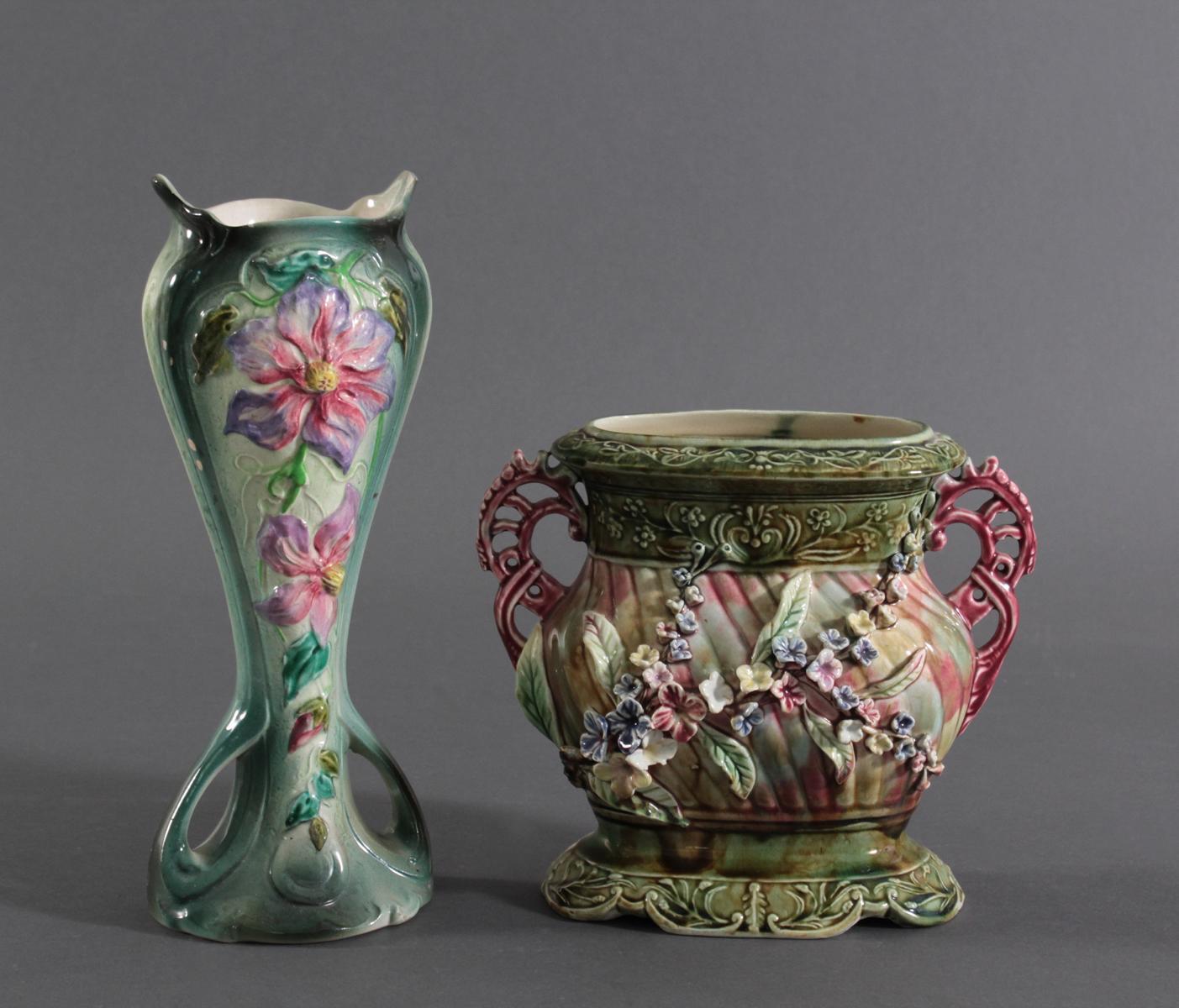 Jugendstil Jardiniere Und Vase Badisches Auktionshaus