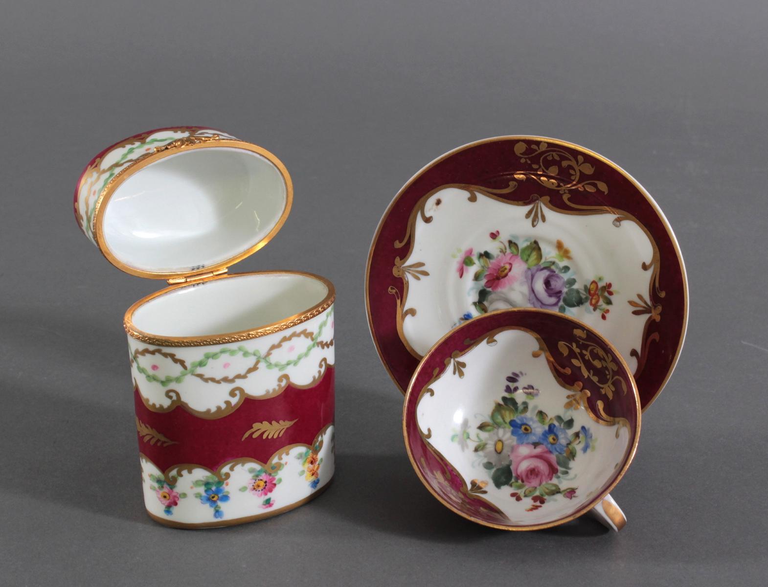 Drei Teile Porzellan, vermutlich Paris, Edmé Samson, Ende 19. Jh.-3