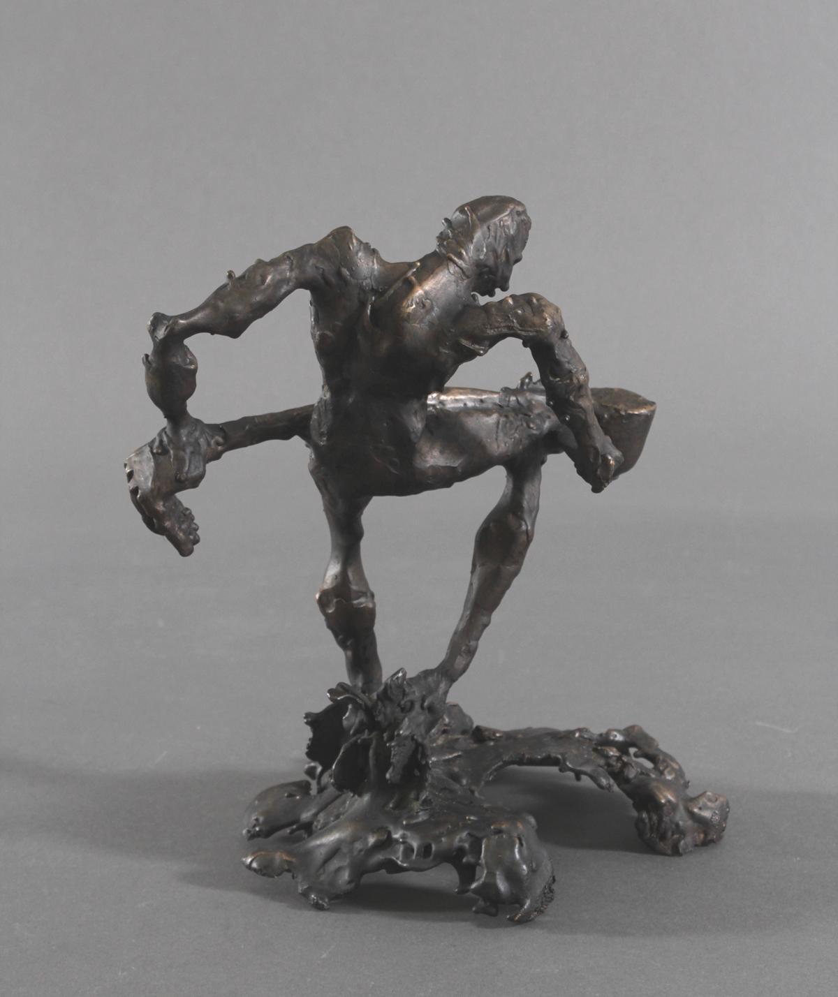 Abstrakte Bronzeskulptur 'Giesser', 2. Hälfte 20. Jh.-3