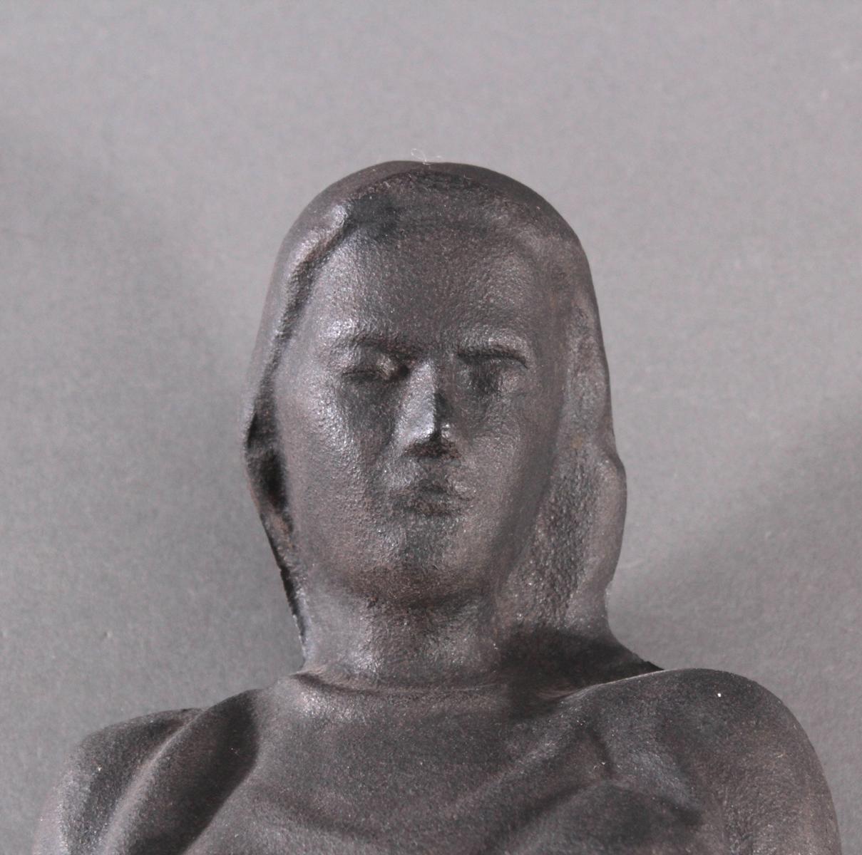 Eisenskulptur 'Heilige Barbara', 2. Hälfte 20. Jh.-2