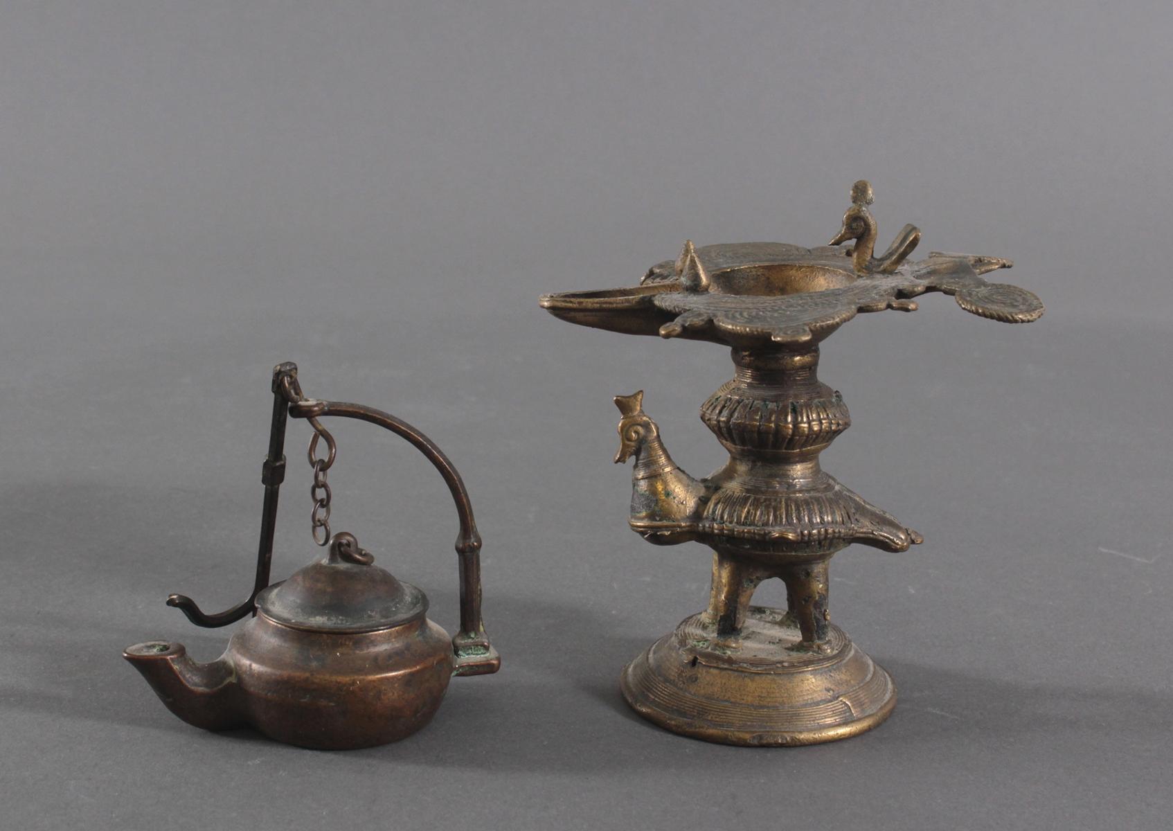 Bronze-Öllampen, Indien