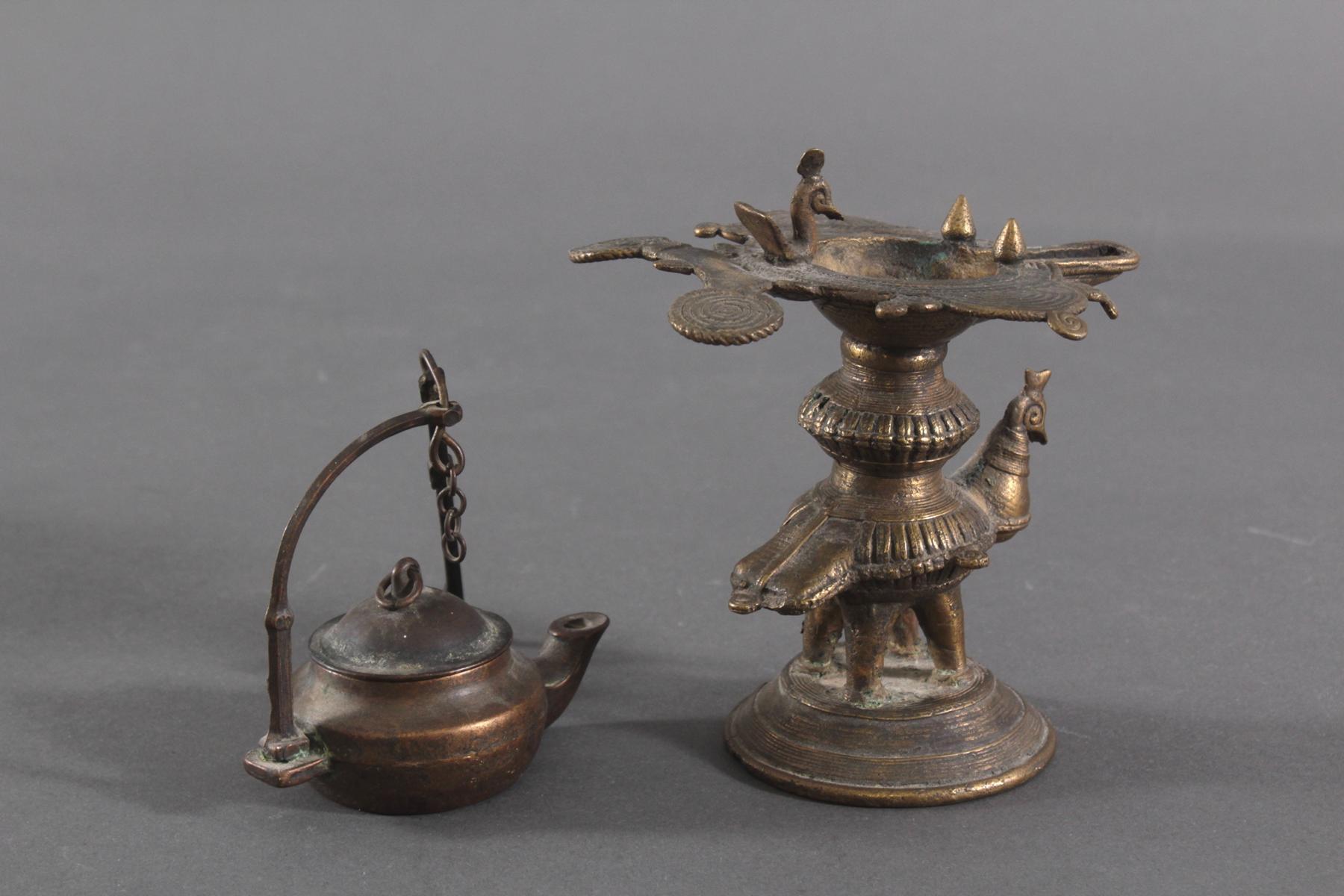 Bronze-Öllampen, Indien-2