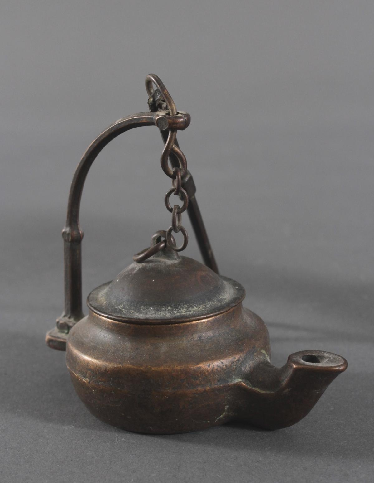 Bronze-Öllampen, Indien-4