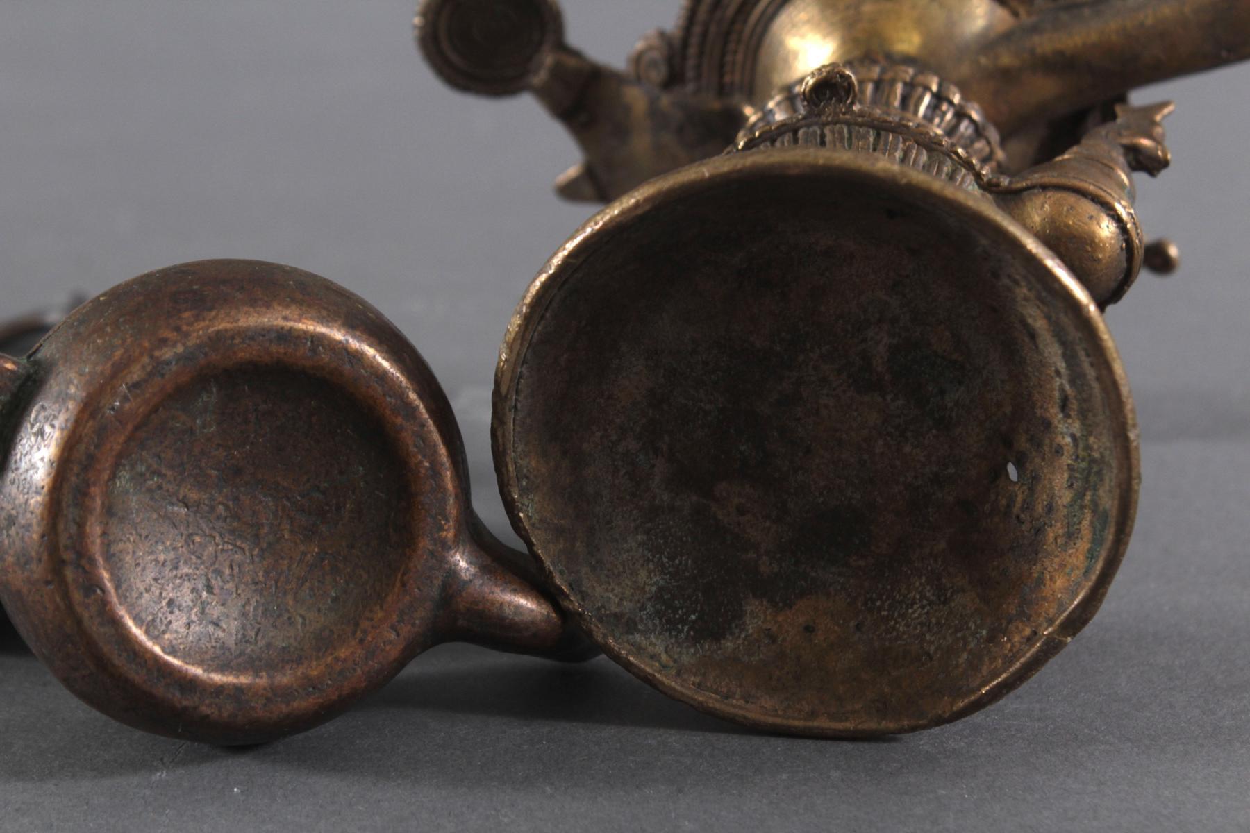 Bronze-Öllampen, Indien-5