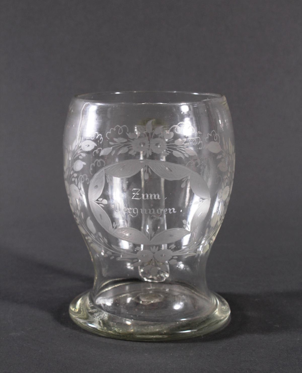 Glaskrug, um 1800