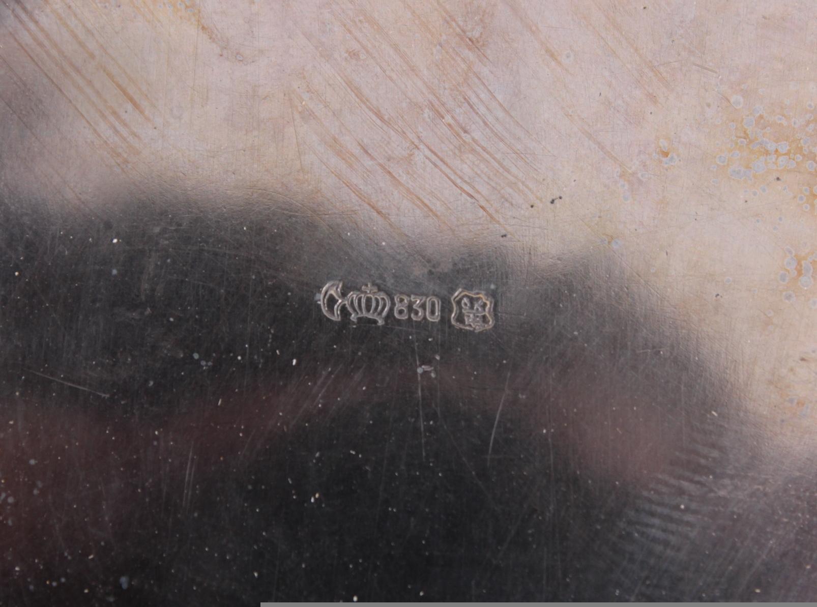 Silberne Fußschale, Gottlieb Kurz, Schwäbisch Gmünd-4