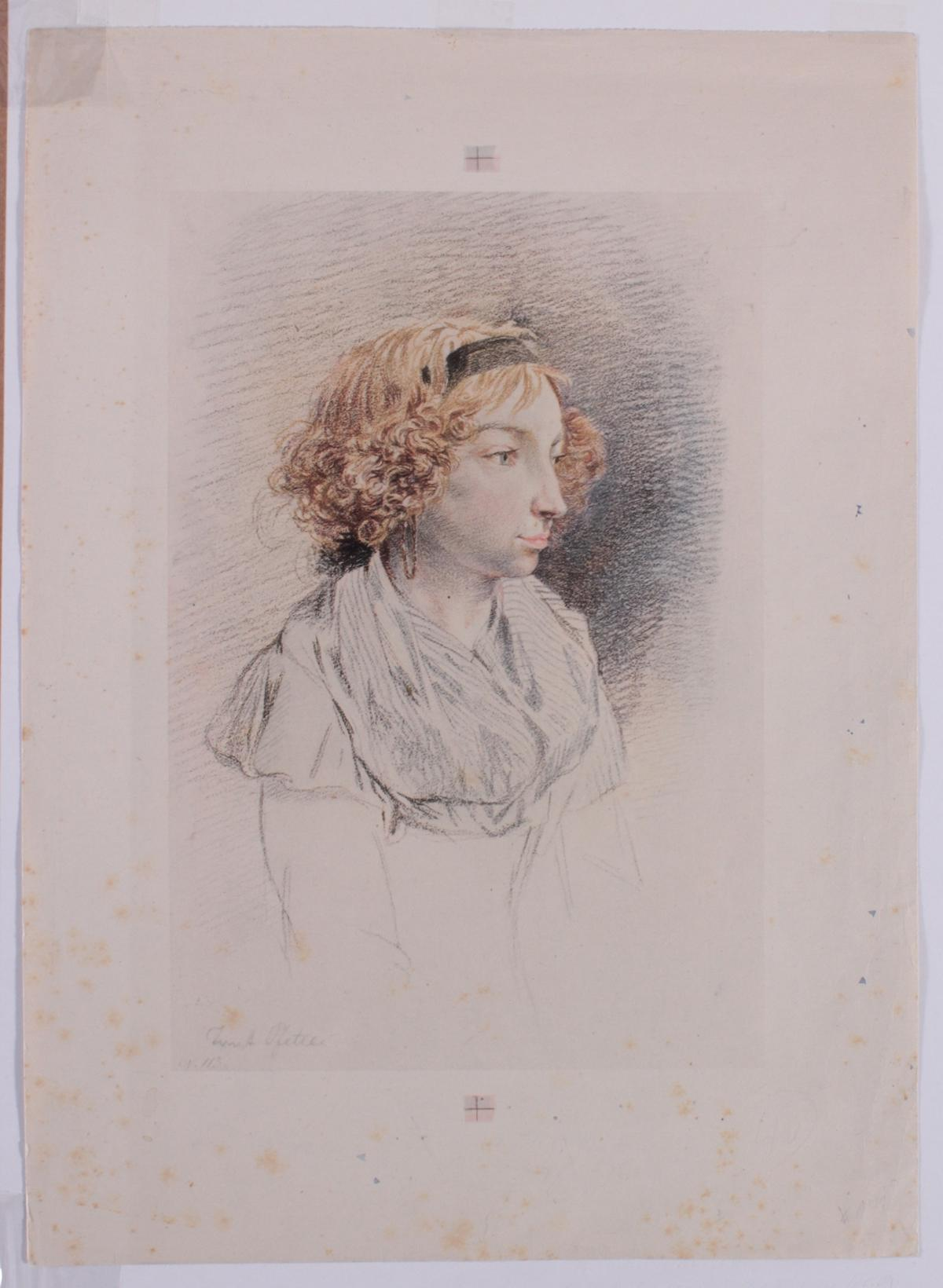 5 kolorierte Lithographien um 1833 / 1890-2