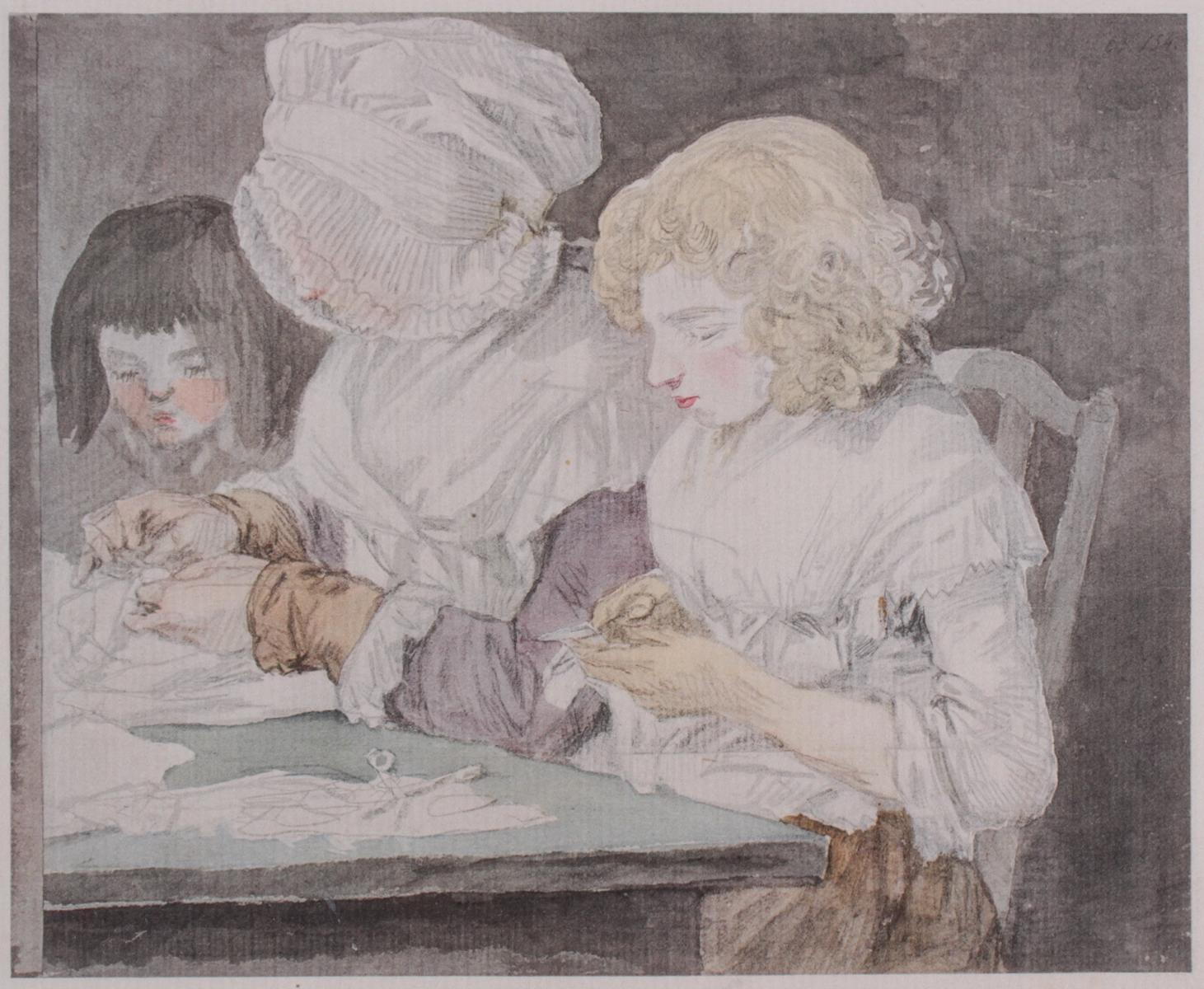 5 kolorierte Lithographien um 1833 / 1890-4