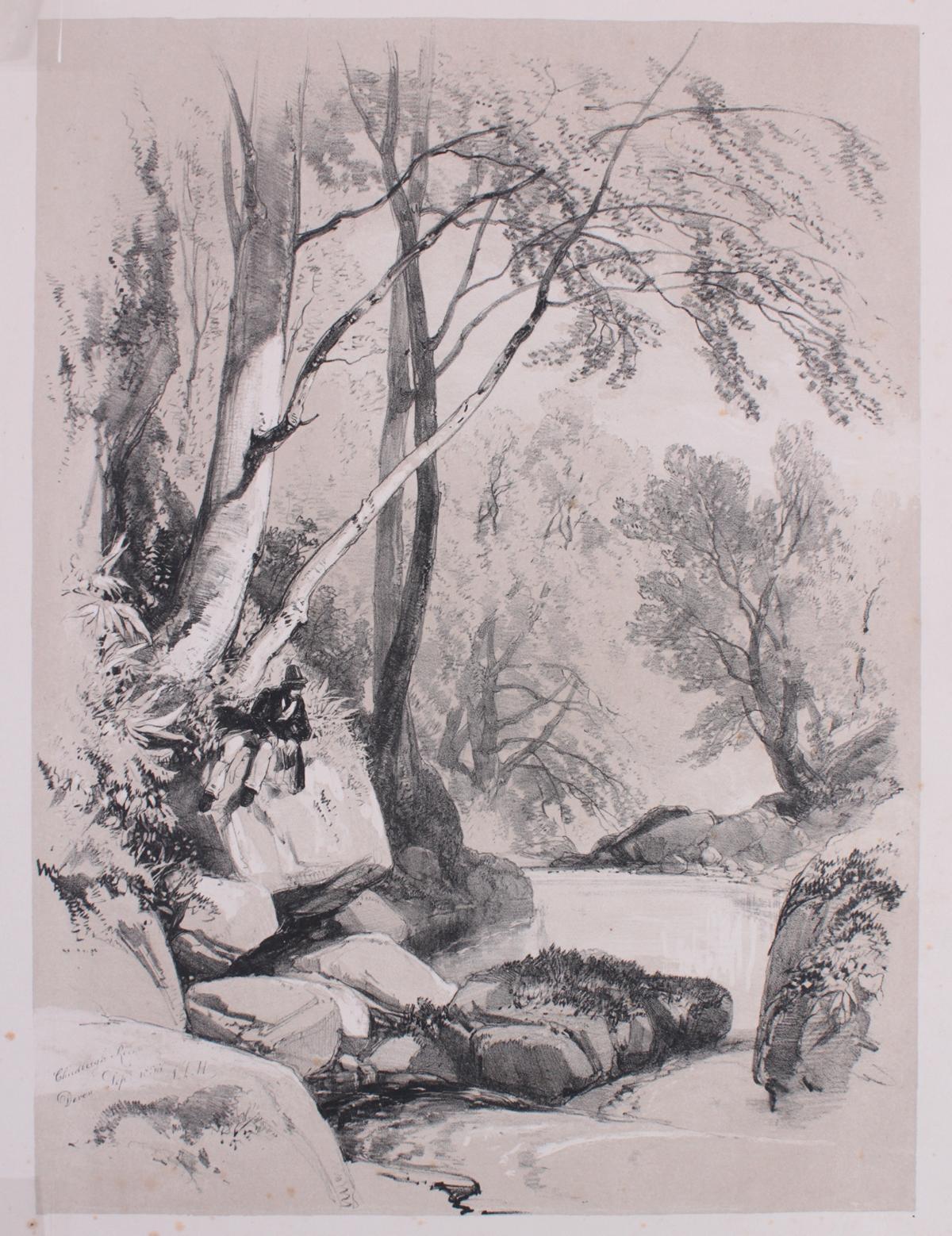 5 kolorierte Lithographien um 1833 / 1890-5