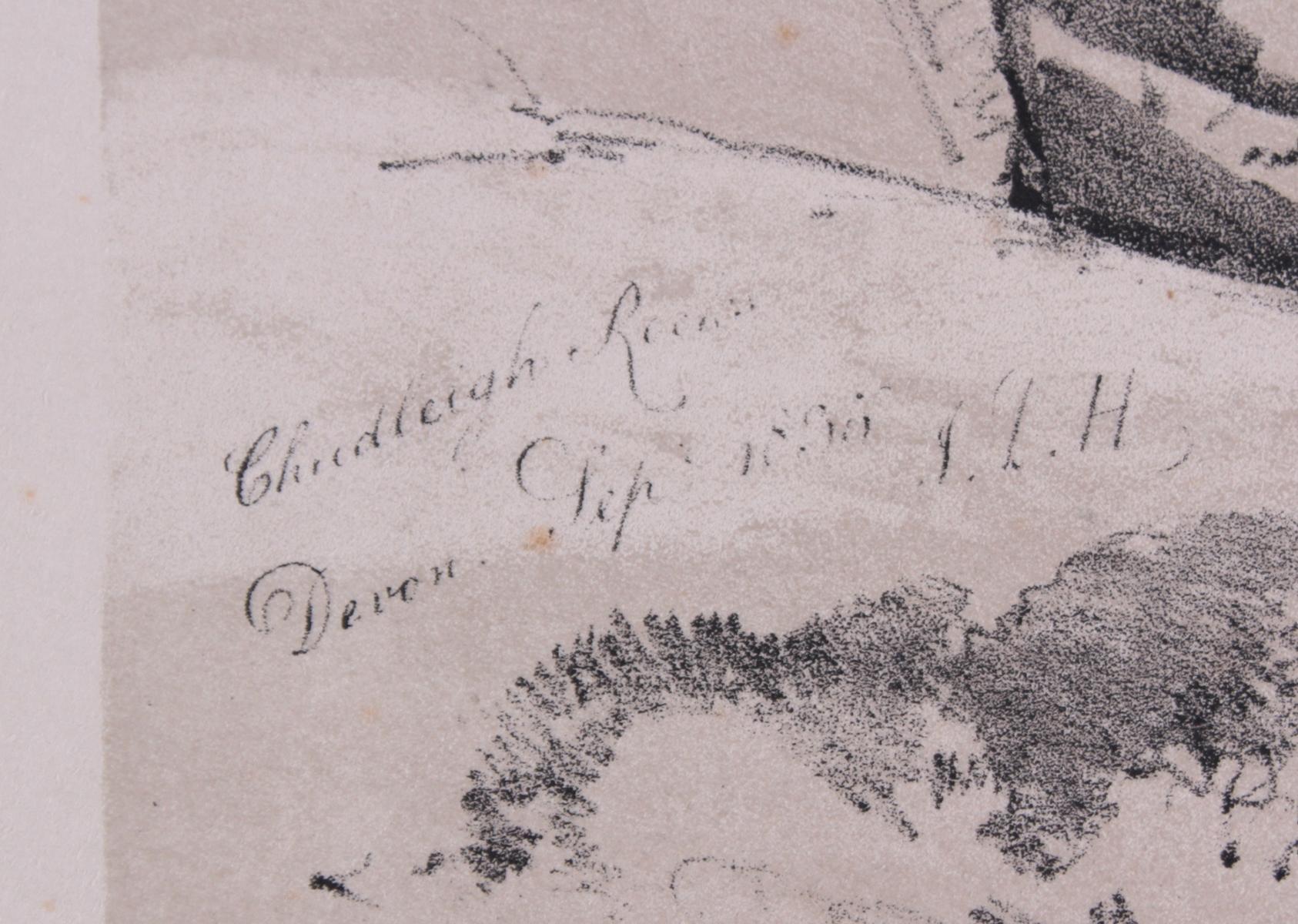 5 kolorierte Lithographien um 1833 / 1890-6