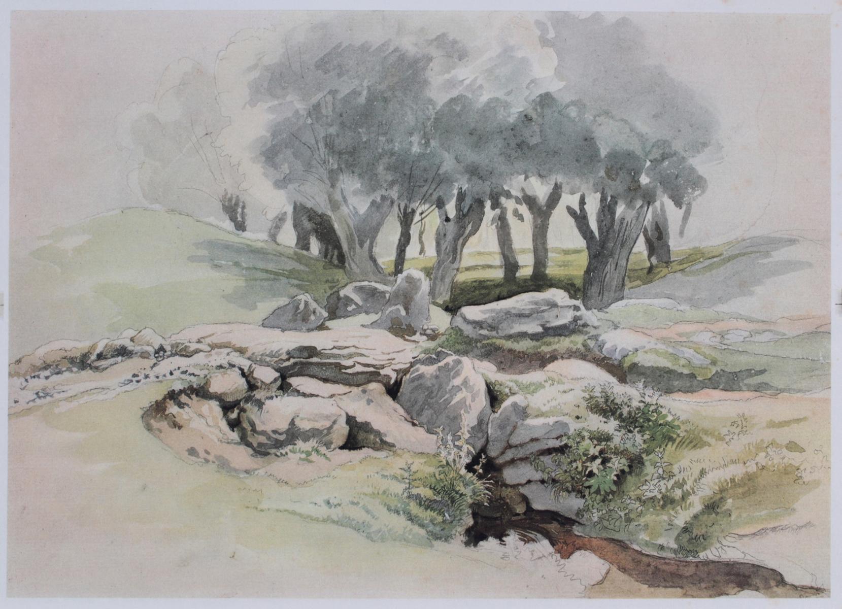 5 kolorierte Lithographien um 1833 / 1890-7