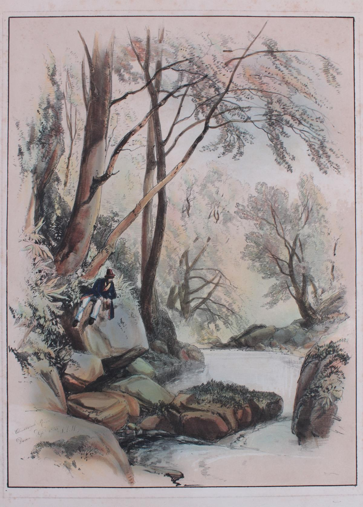 5 kolorierte Lithographien um 1833 / 1890-8