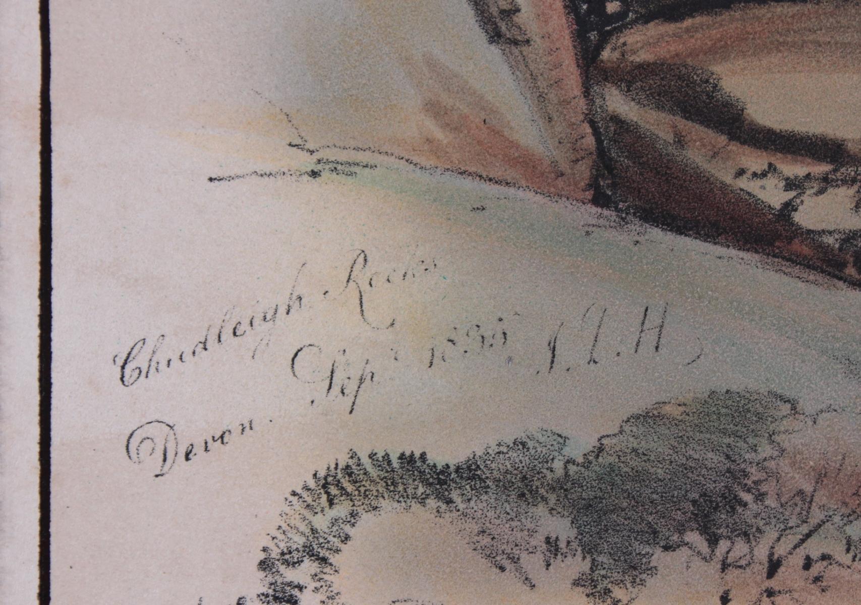 5 kolorierte Lithographien um 1833 / 1890-9